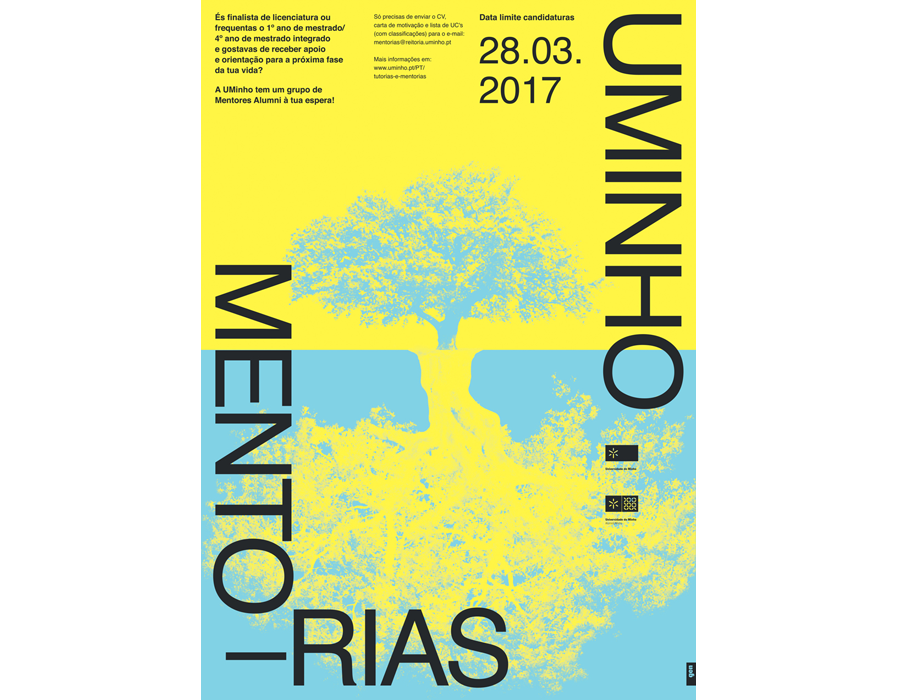 Mentorias UMinho poster by Gen Design Studio