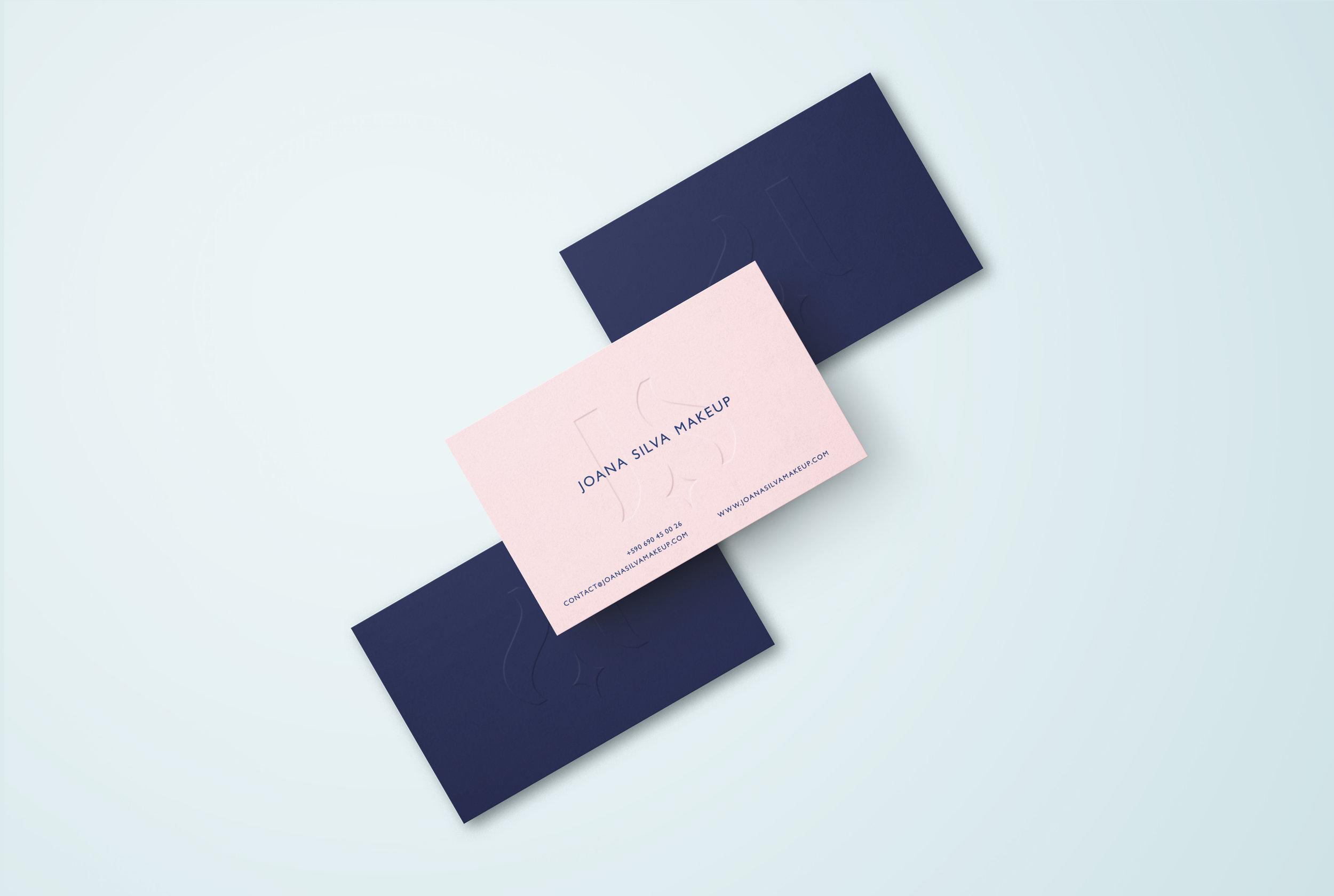 Joana Silva Makeup business cards by Gen Design Studio