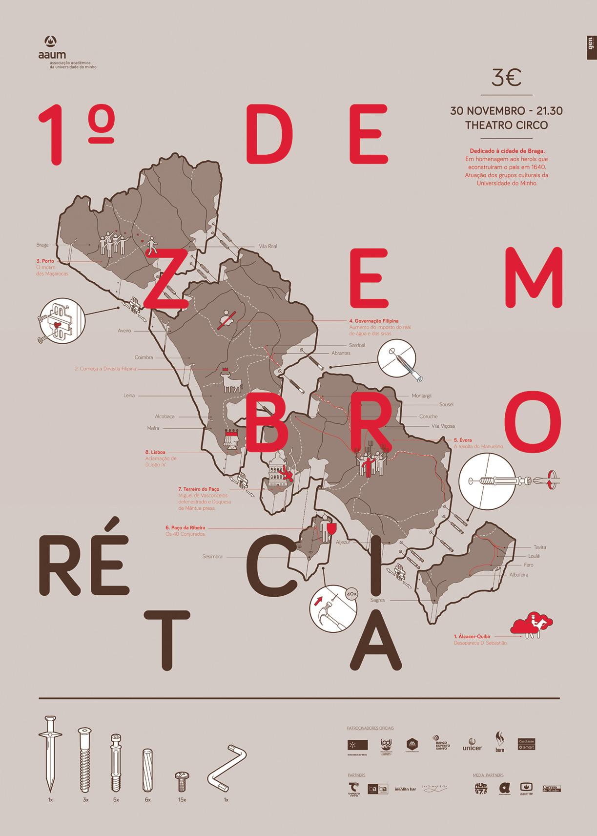 1º Dezembro poster by Gen Design Studio