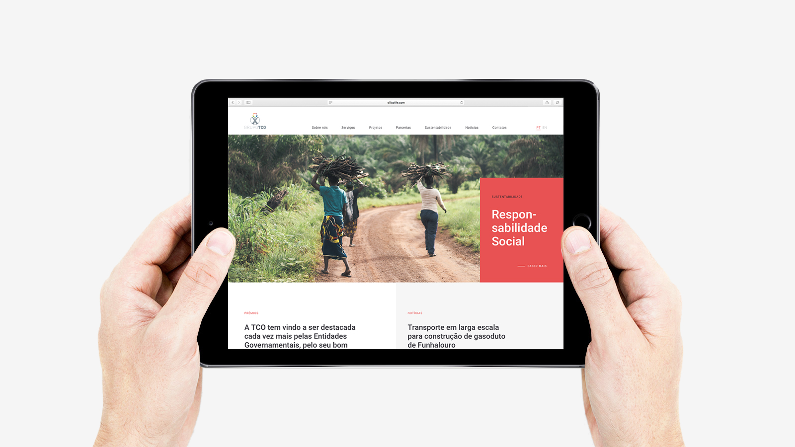 Grupo TCO website by Gen Design Studio