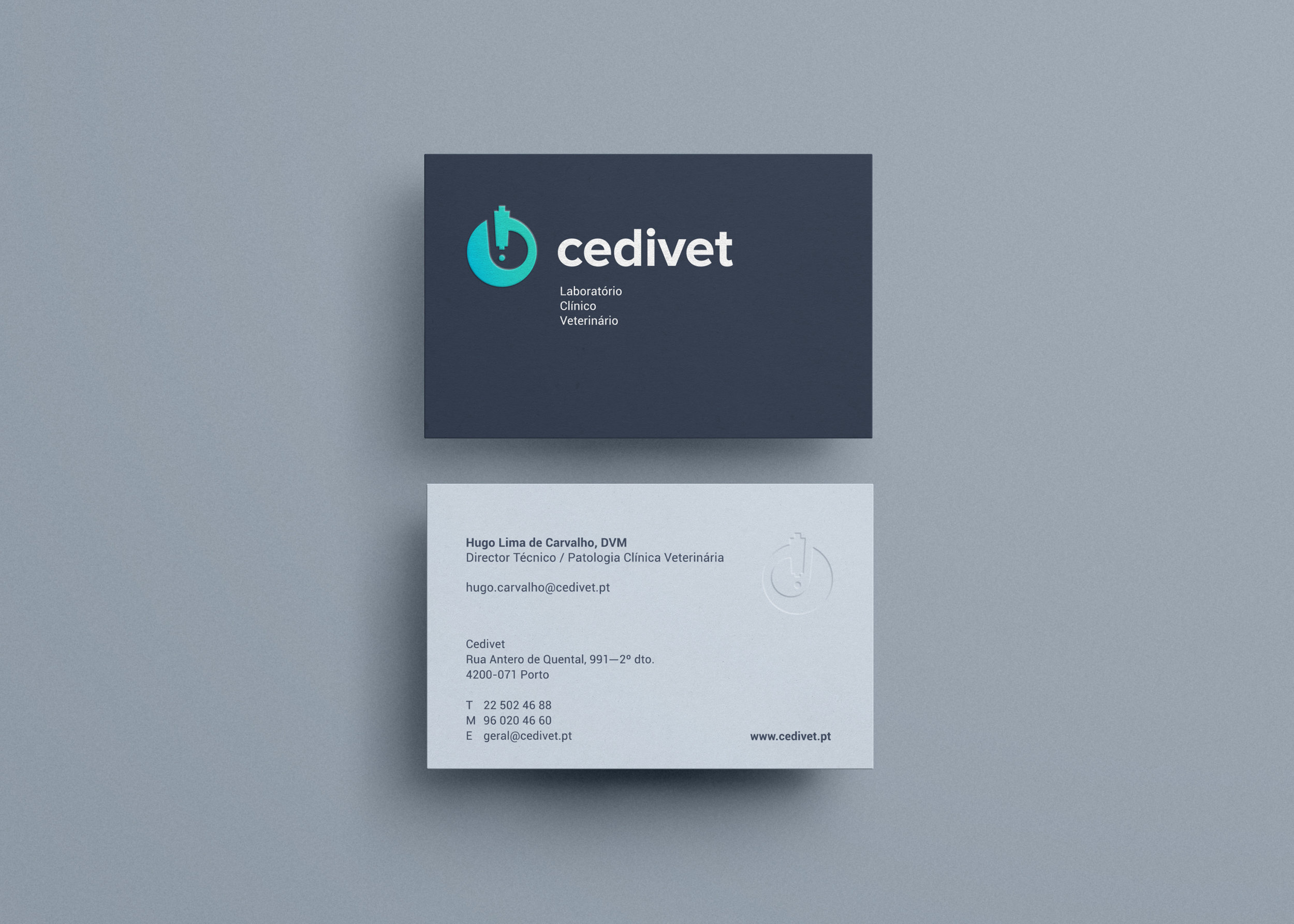 Cedivet Veterinary Lab business cards by Gen design studio
