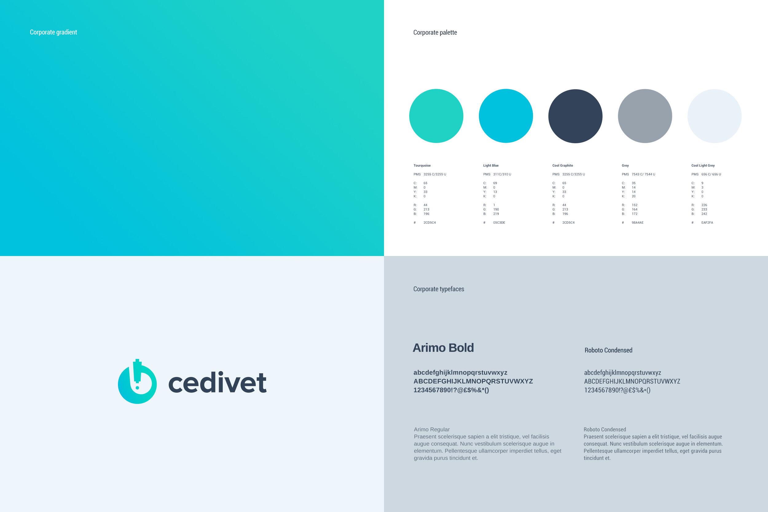Cedivet Veterinary Lab identity by Gen design studio