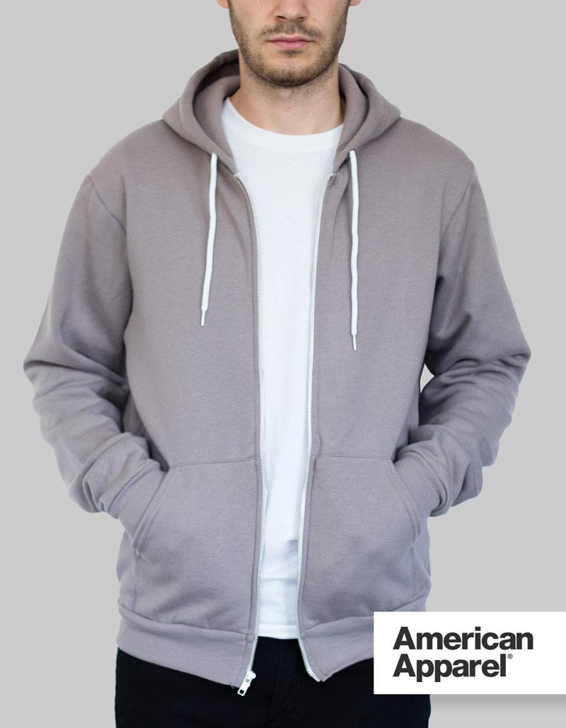 American Apparel Zip Hoodie   Unisex / 278gsm / 28 Colours