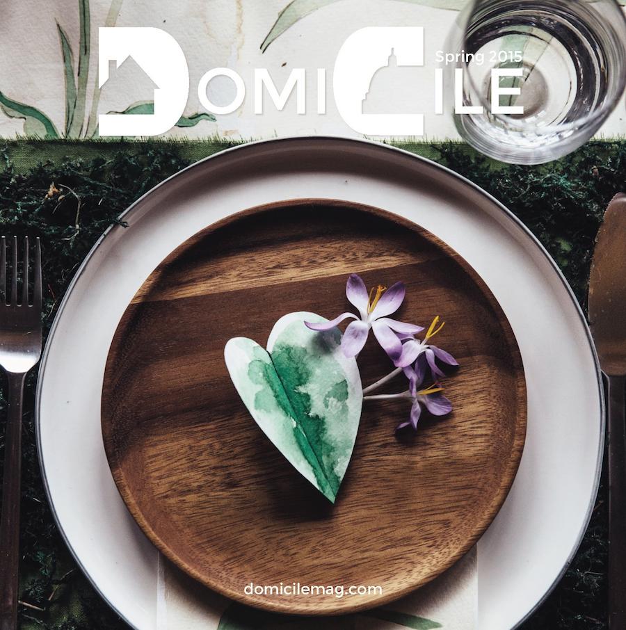 DomiCile Magazine Spring 2015 Cover
