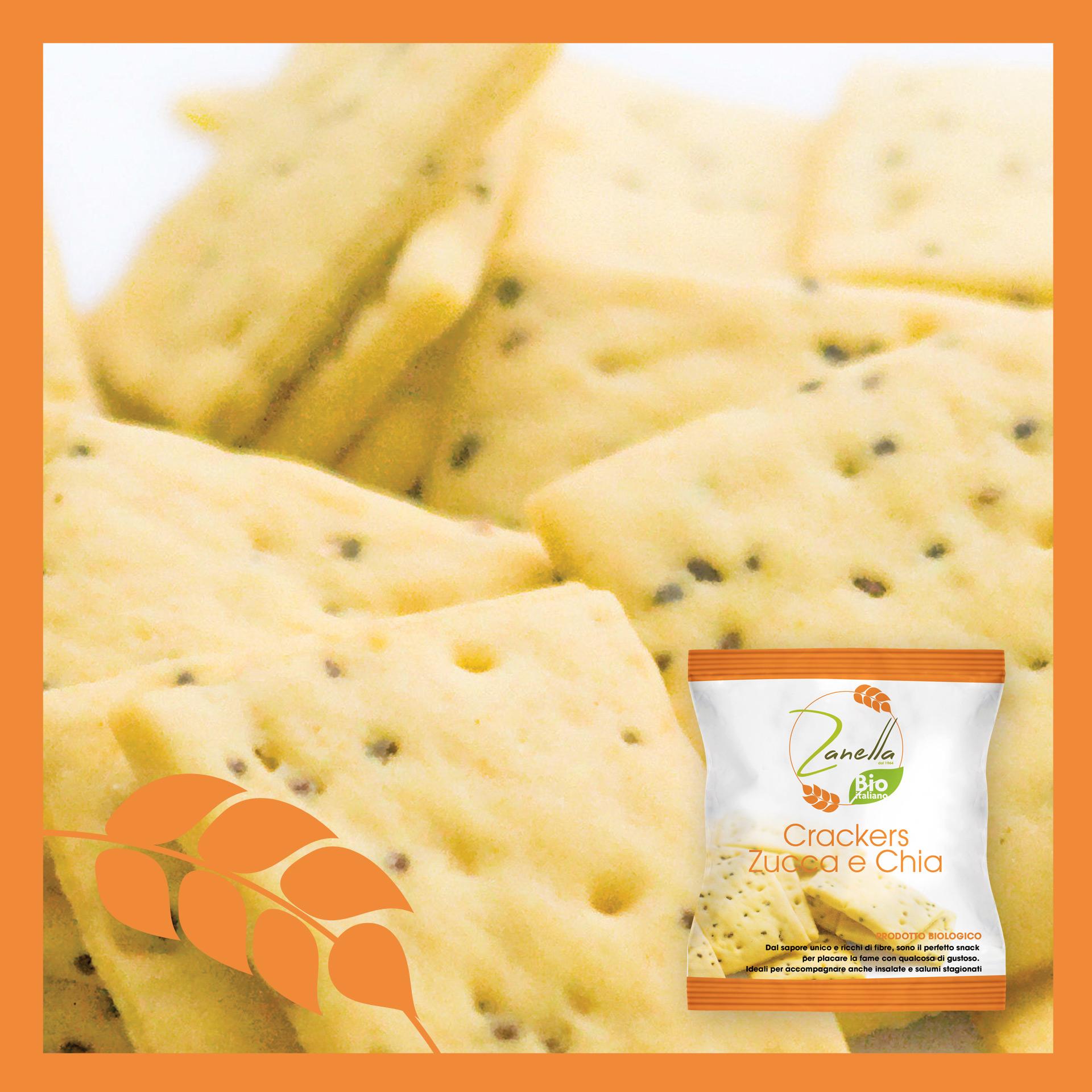 Crackers pumpkin and chia