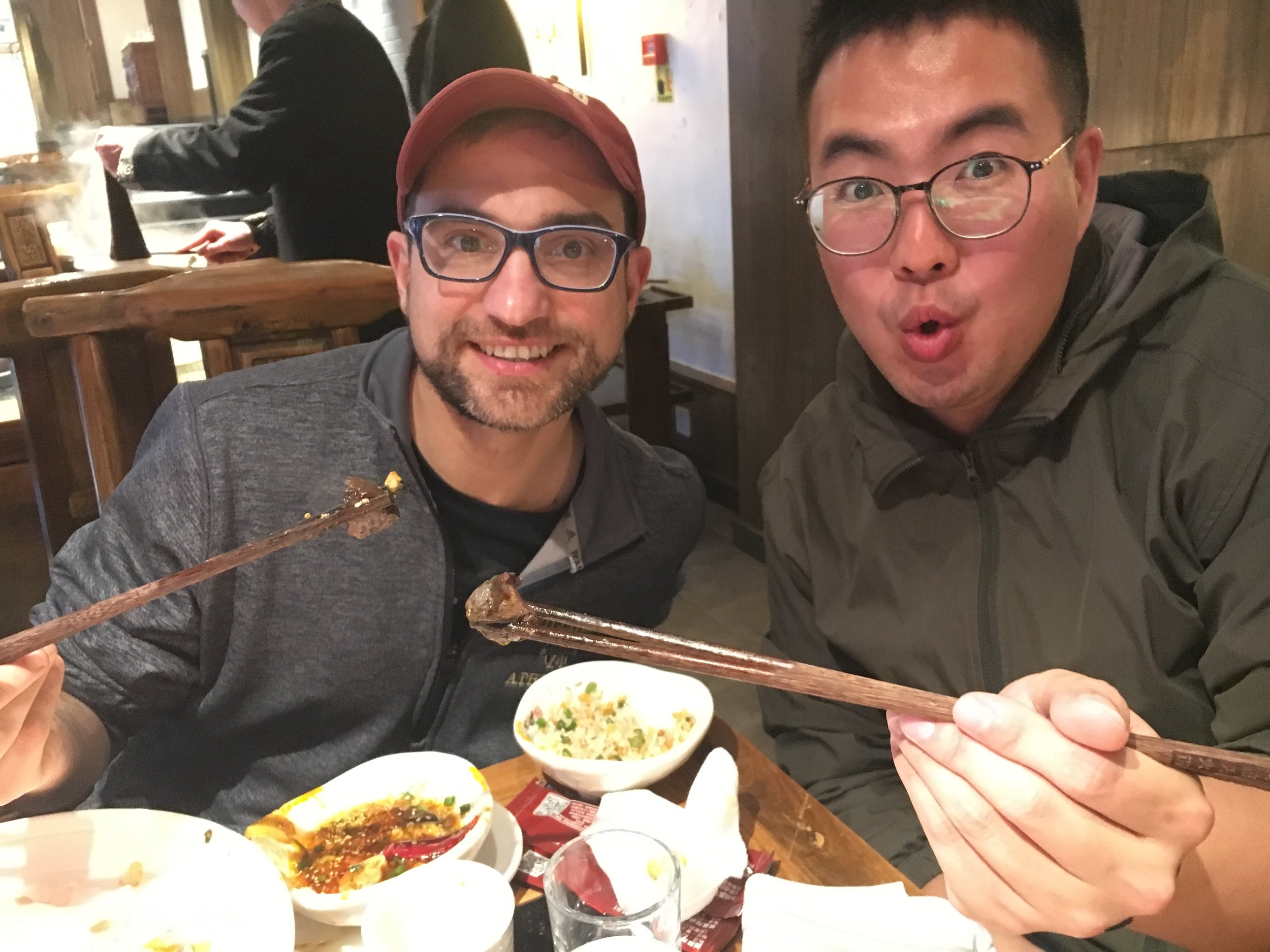 Hot Pot -- Eating the Cooked Duck Blood.jpg