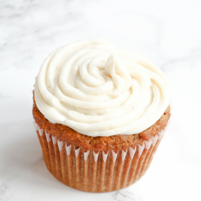 Healthy Carrot Cake Cupcake from She Well