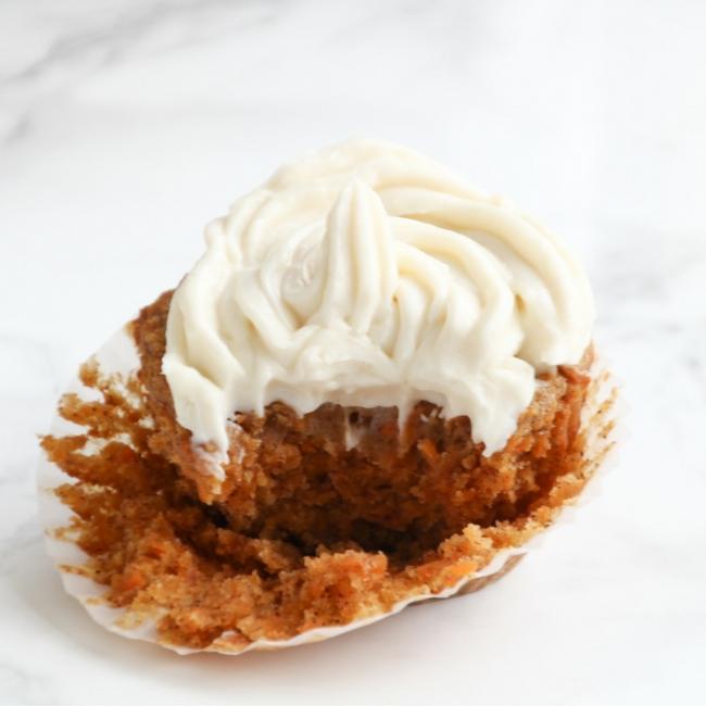 Skinny Carrot Cake Cupcake from She Well