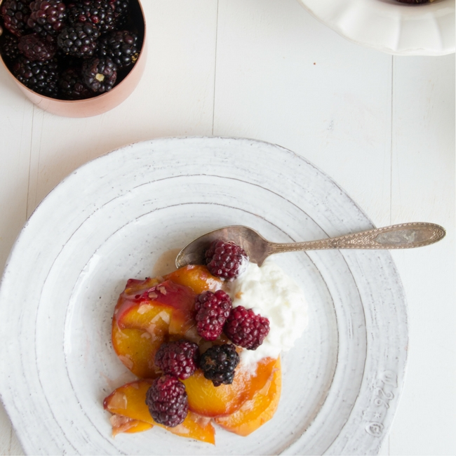 Blackberry Peach Compote from She Well