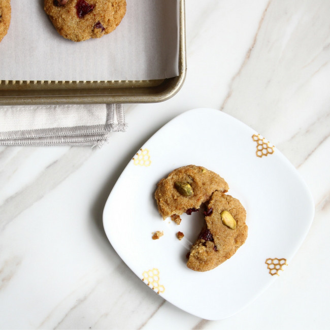 Cranberry Pistachio Cookies from She Well