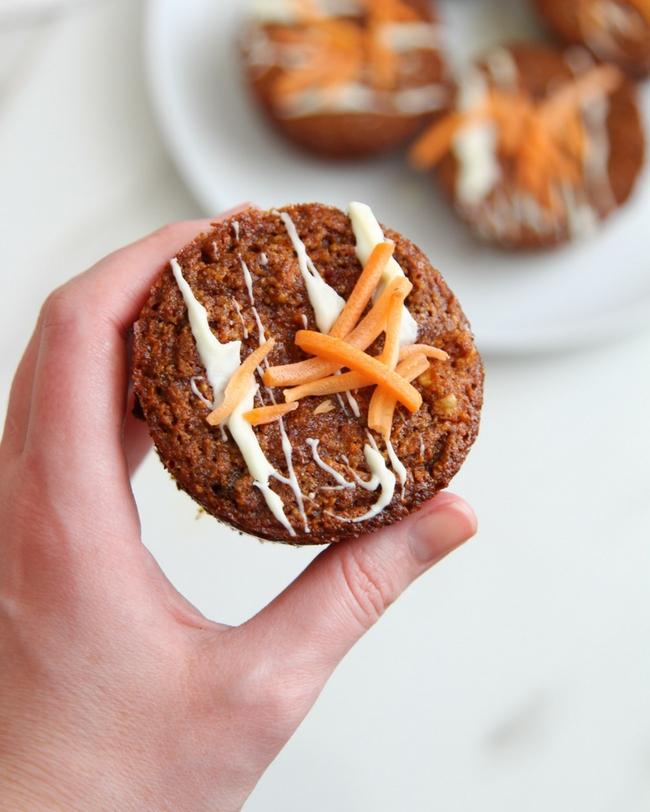 Gluten-free carrot cake muffins