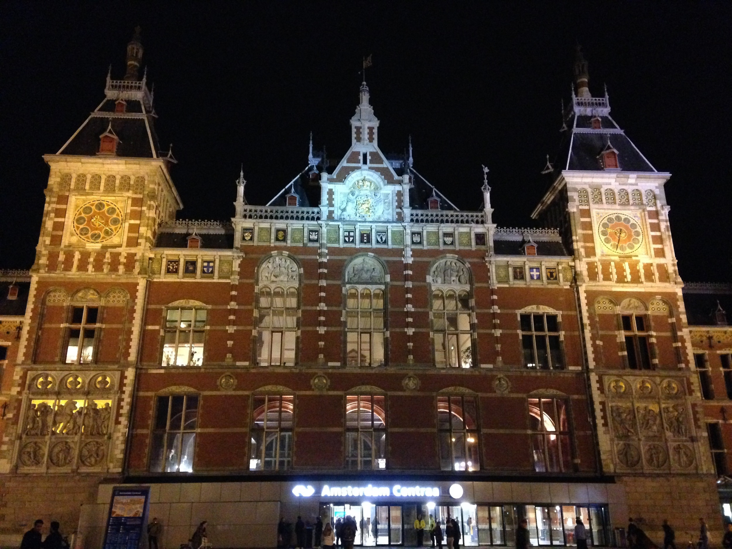The train station was imposing during the daytime, but once it was night and all lit up, it was positively stunning!
