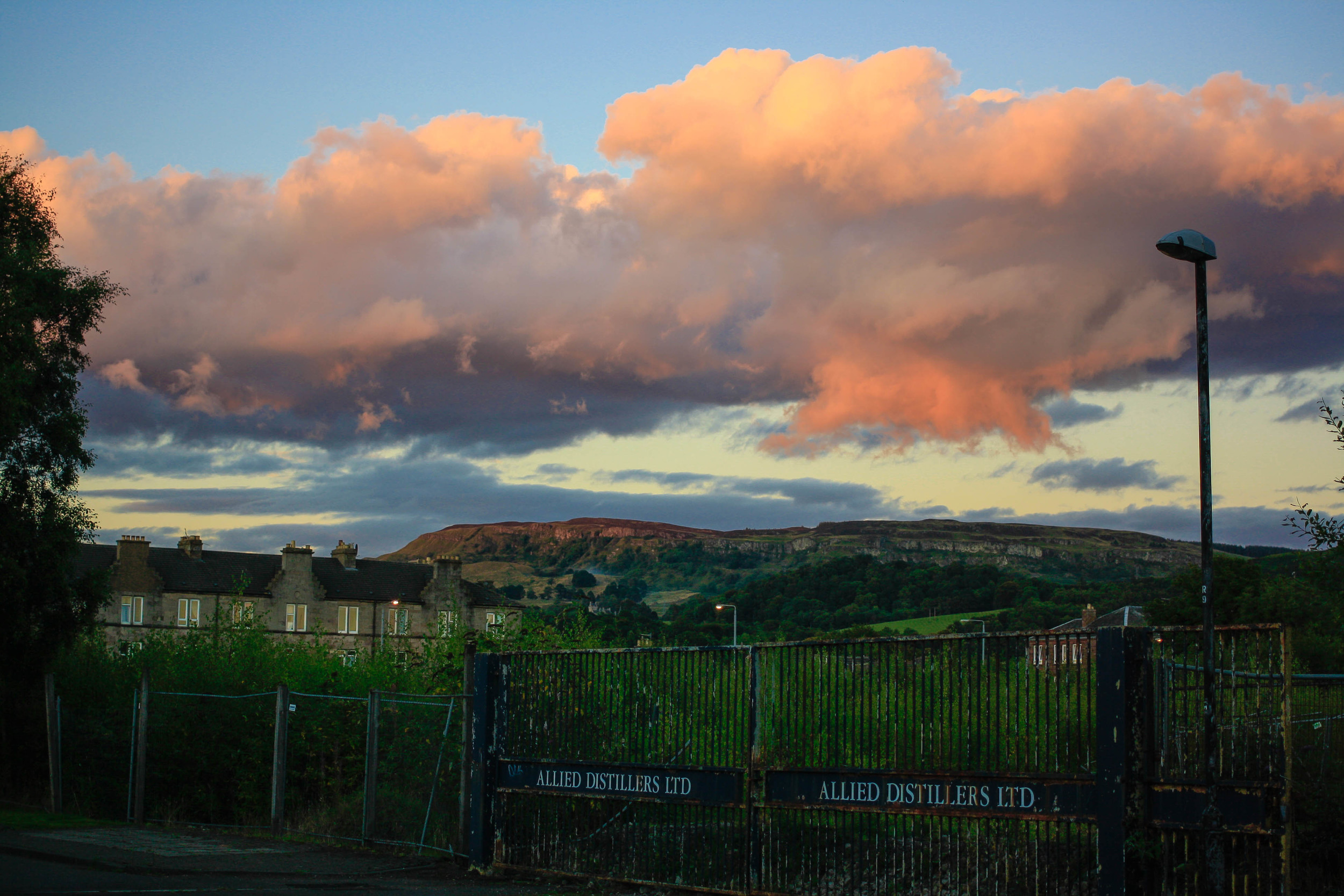 Tonight's view looking towards the Crags.