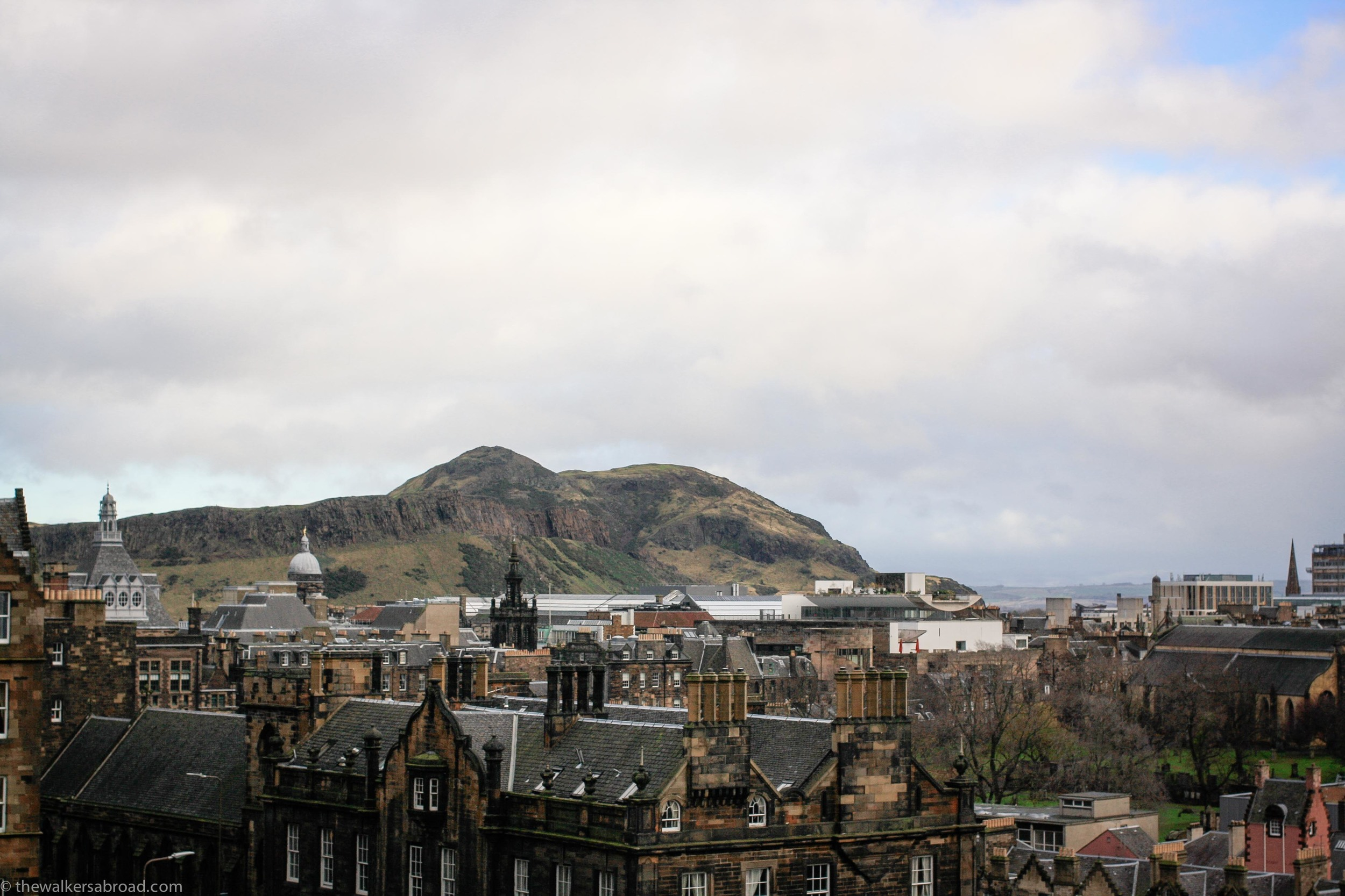 Looking towards Arthur's Seat, part of Holyrood Park and yet another part of Edinburgh we need to explore.