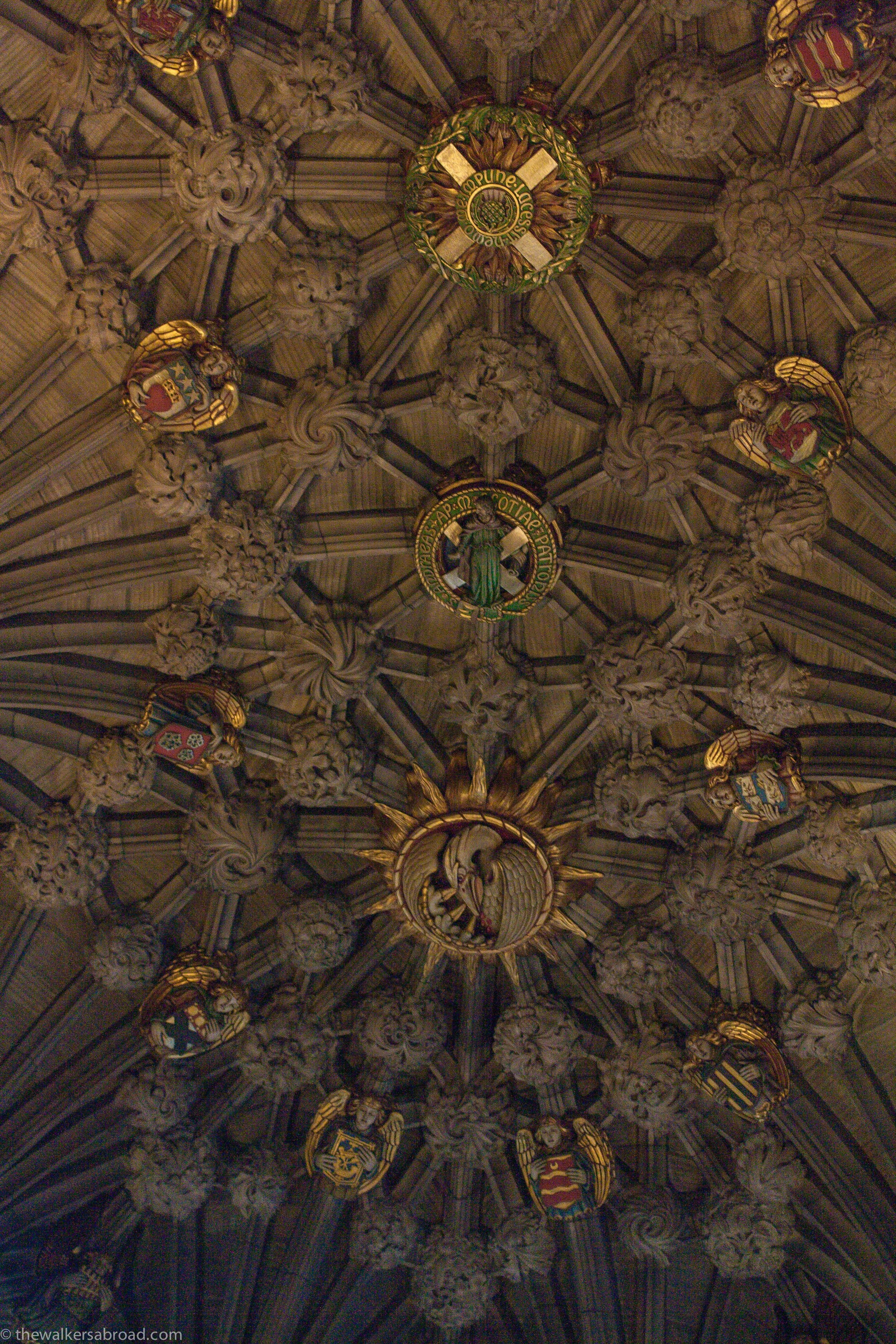 Ceiling of the Thistle Chapel.