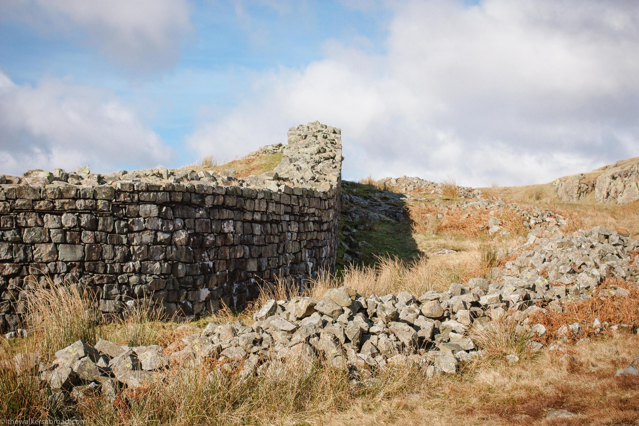 Hardknott Roman Fort, Lake District Cumbria