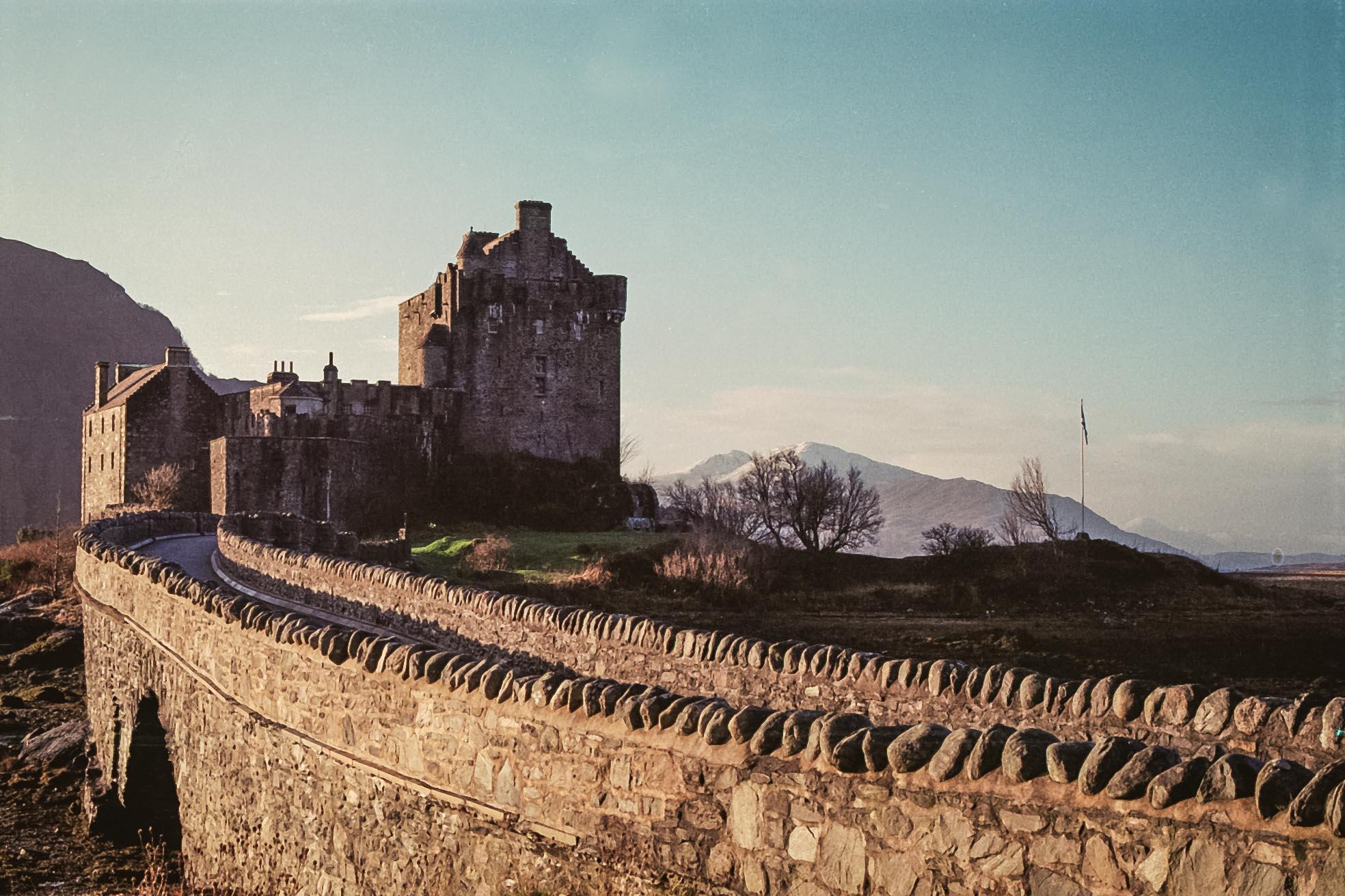 Eilean Donan Castle, about 20 minutes drive away from Skye. Film photo taken by Aaron.