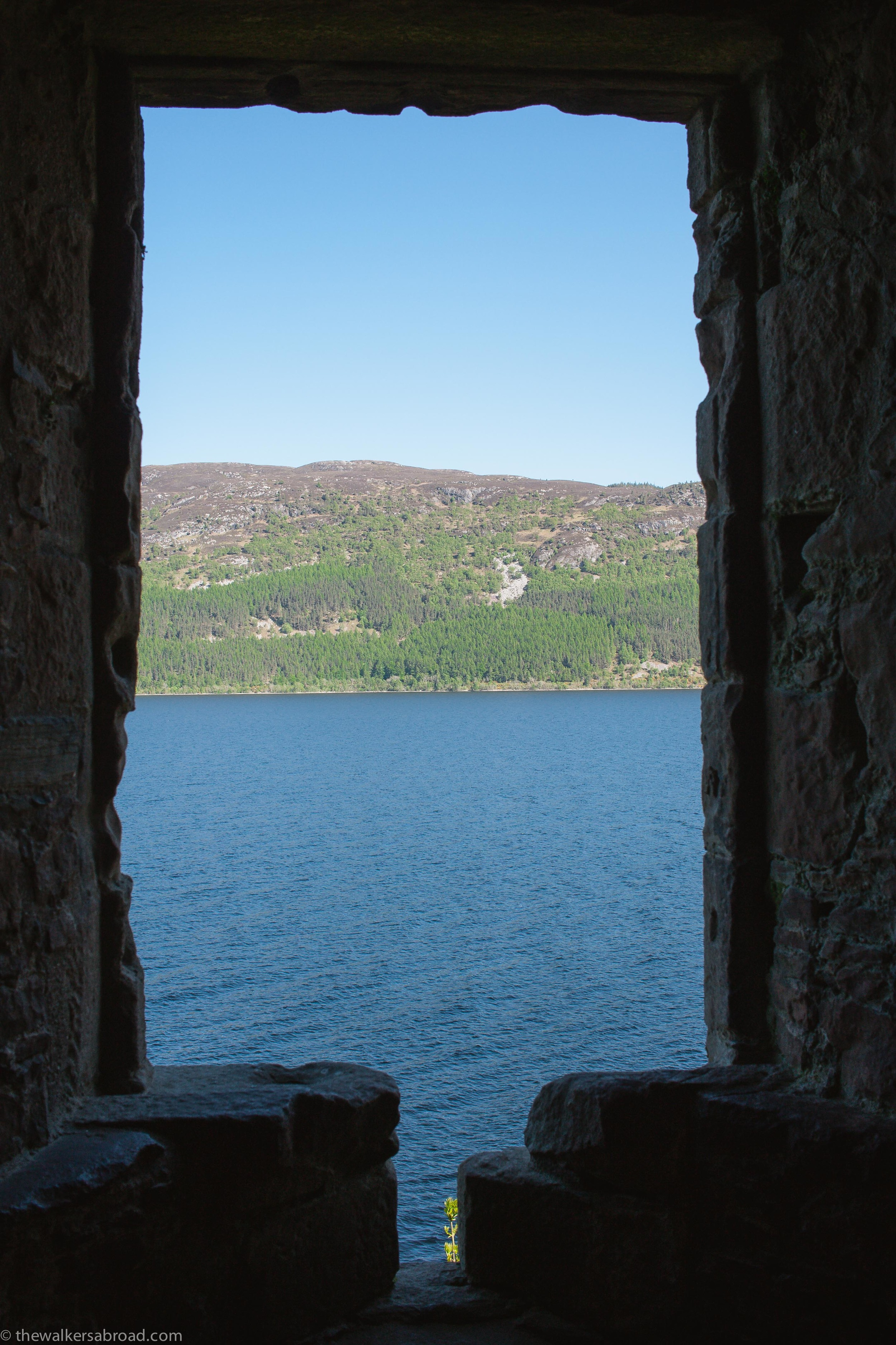 View through a window in Grant Tower.