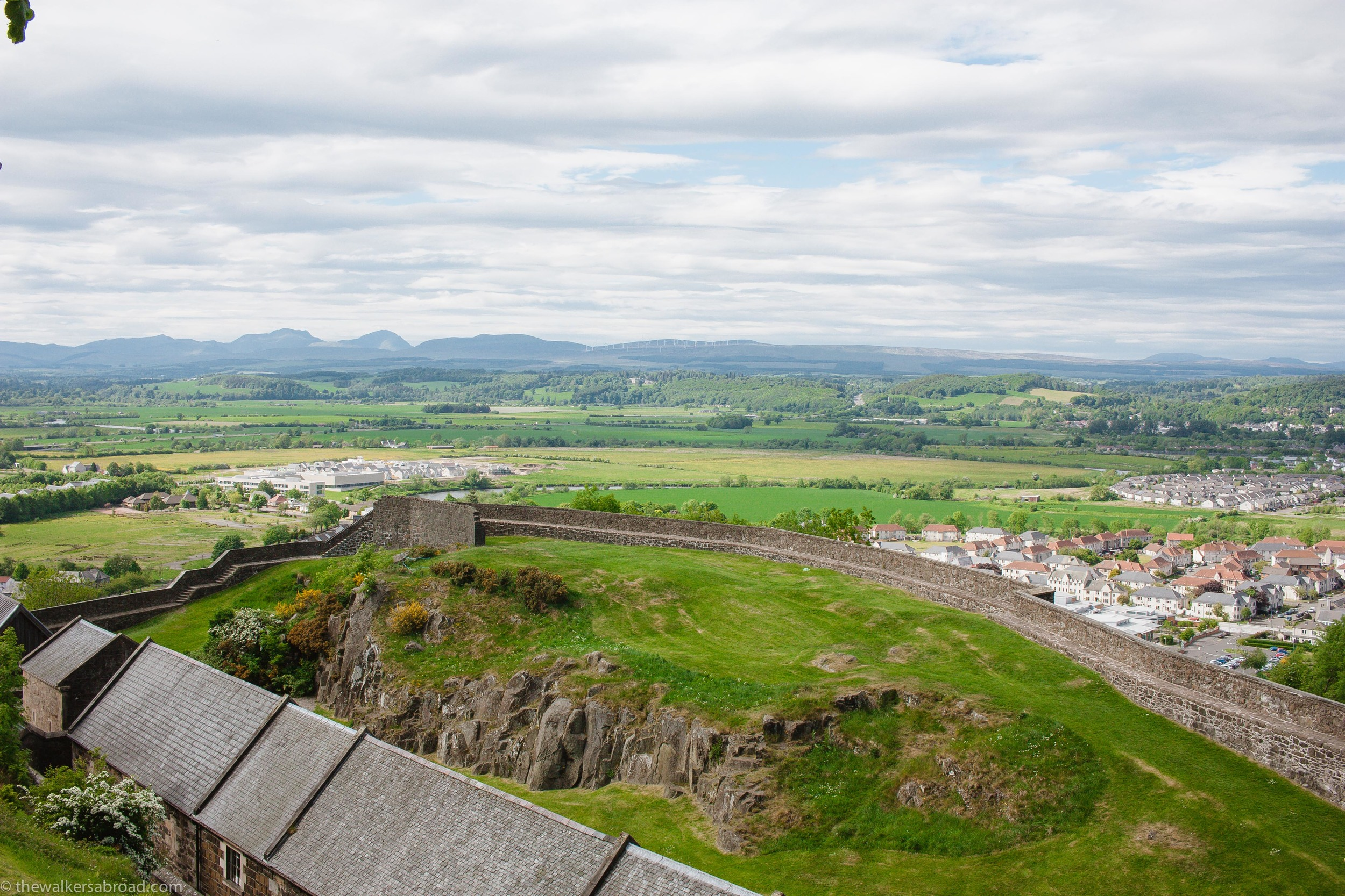 Looking over Stirling and surrounding areas.