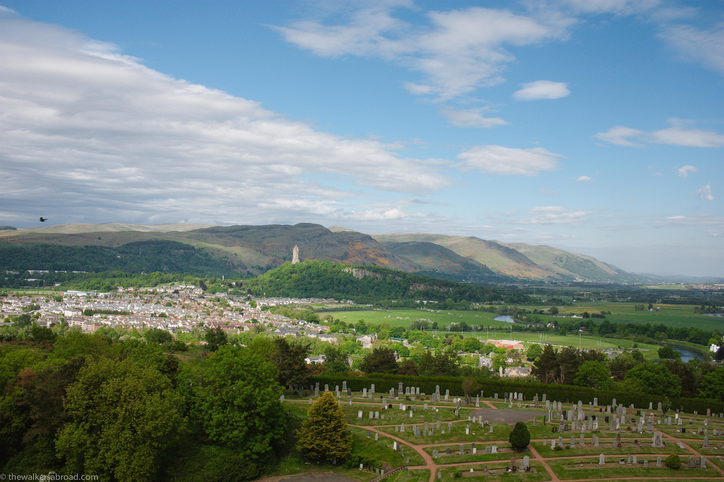 Looking towards the William Wallace Monument. We have excellent intentions of someday going there and climbing the steps to the top.