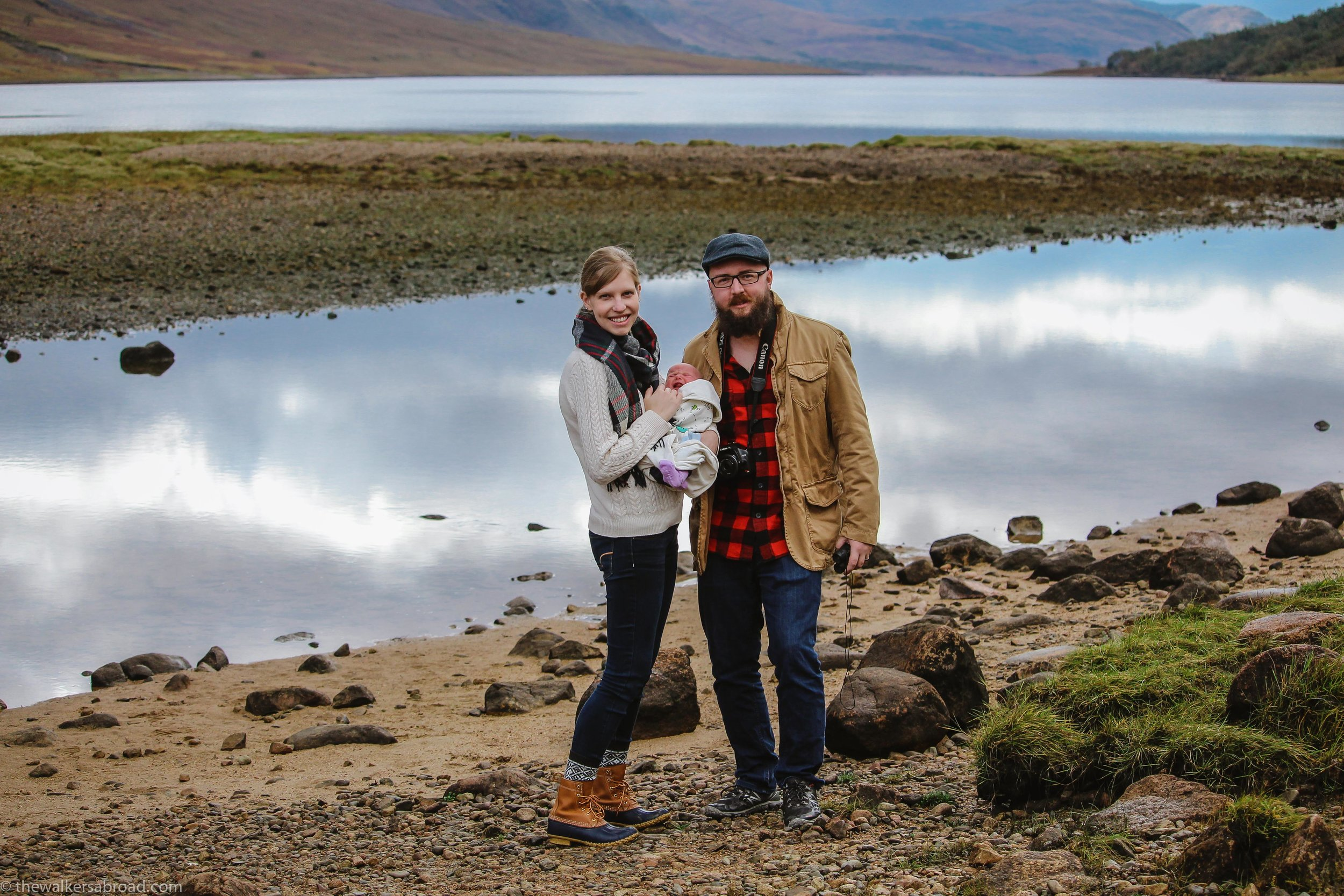 Our little family on Loch Etive. Photo credit: Stephanie Dill