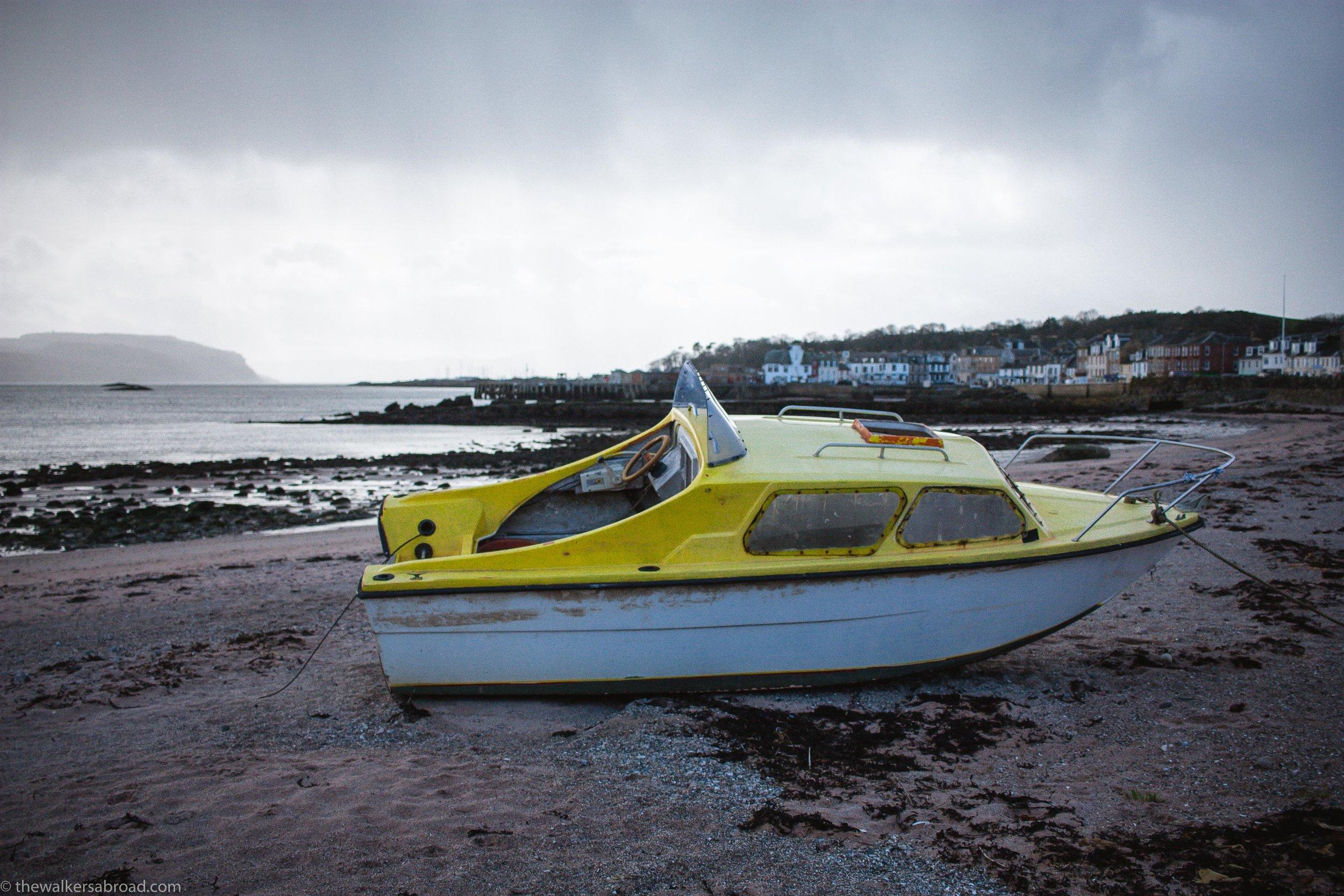 Yellow Boat Cumbrae Millport Scotland Island