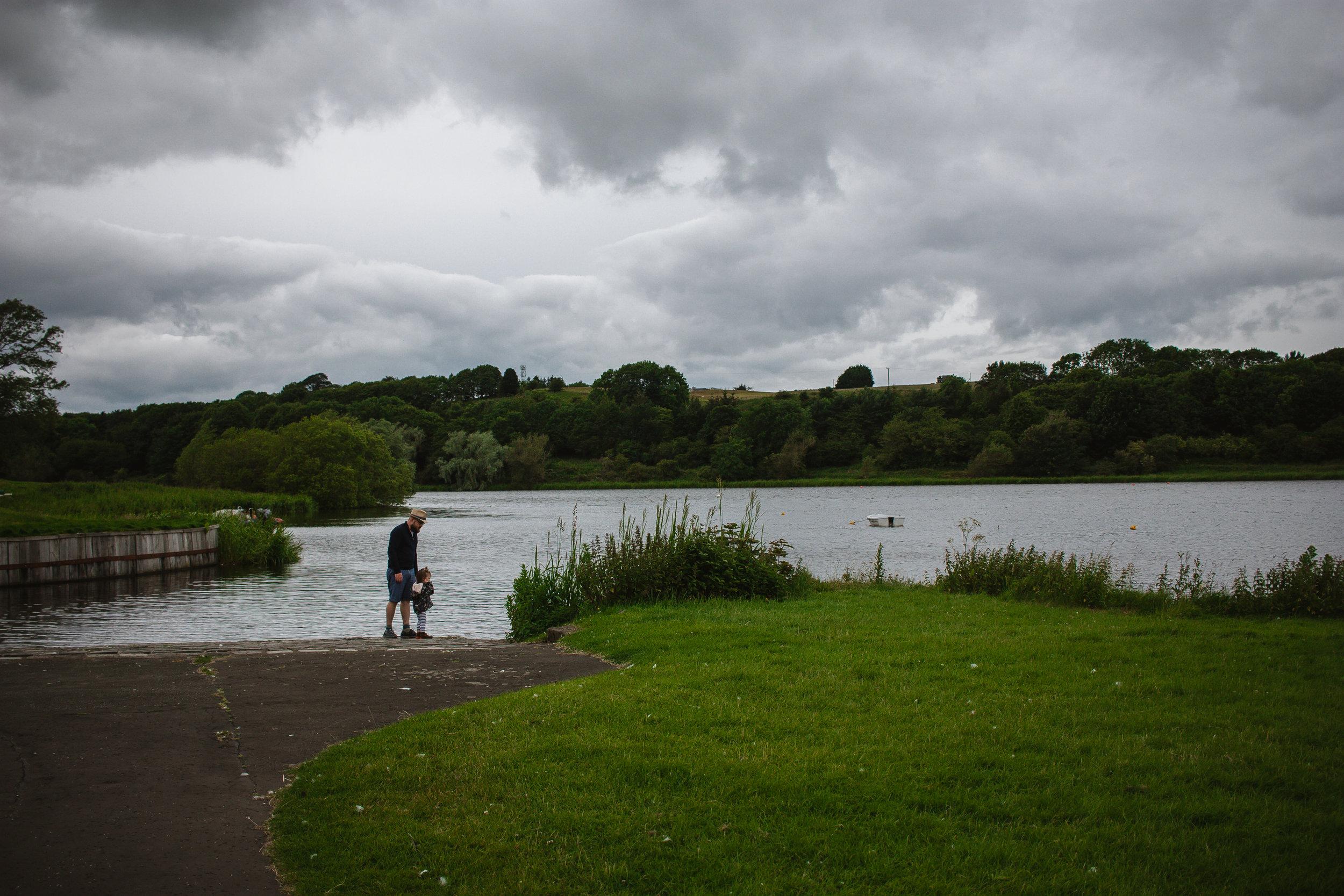 Walking around the Loch on a rather dreich day.