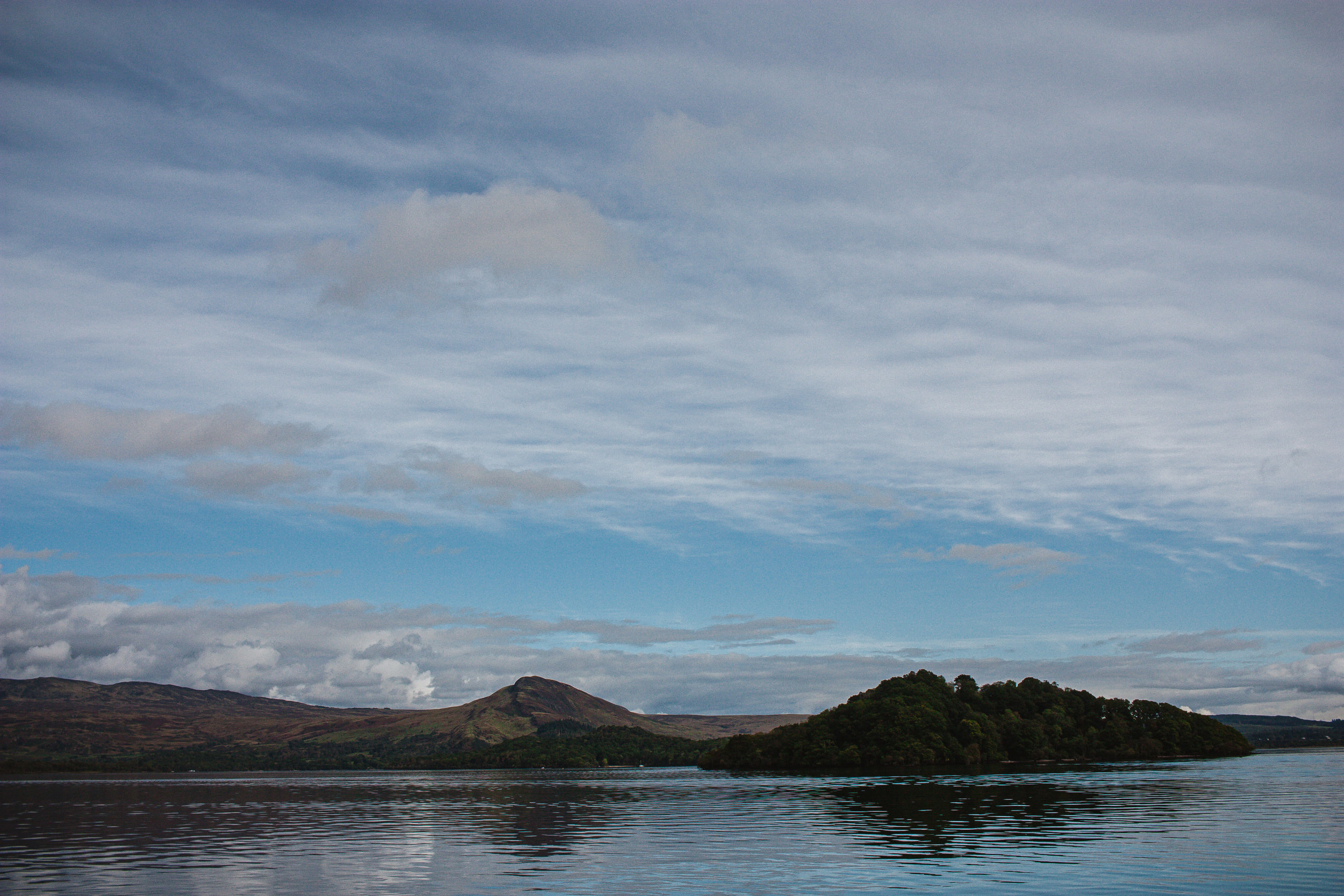 Conic Hill is the hill in the background. We climbed that last month. Blog post incoming about that hike as well!