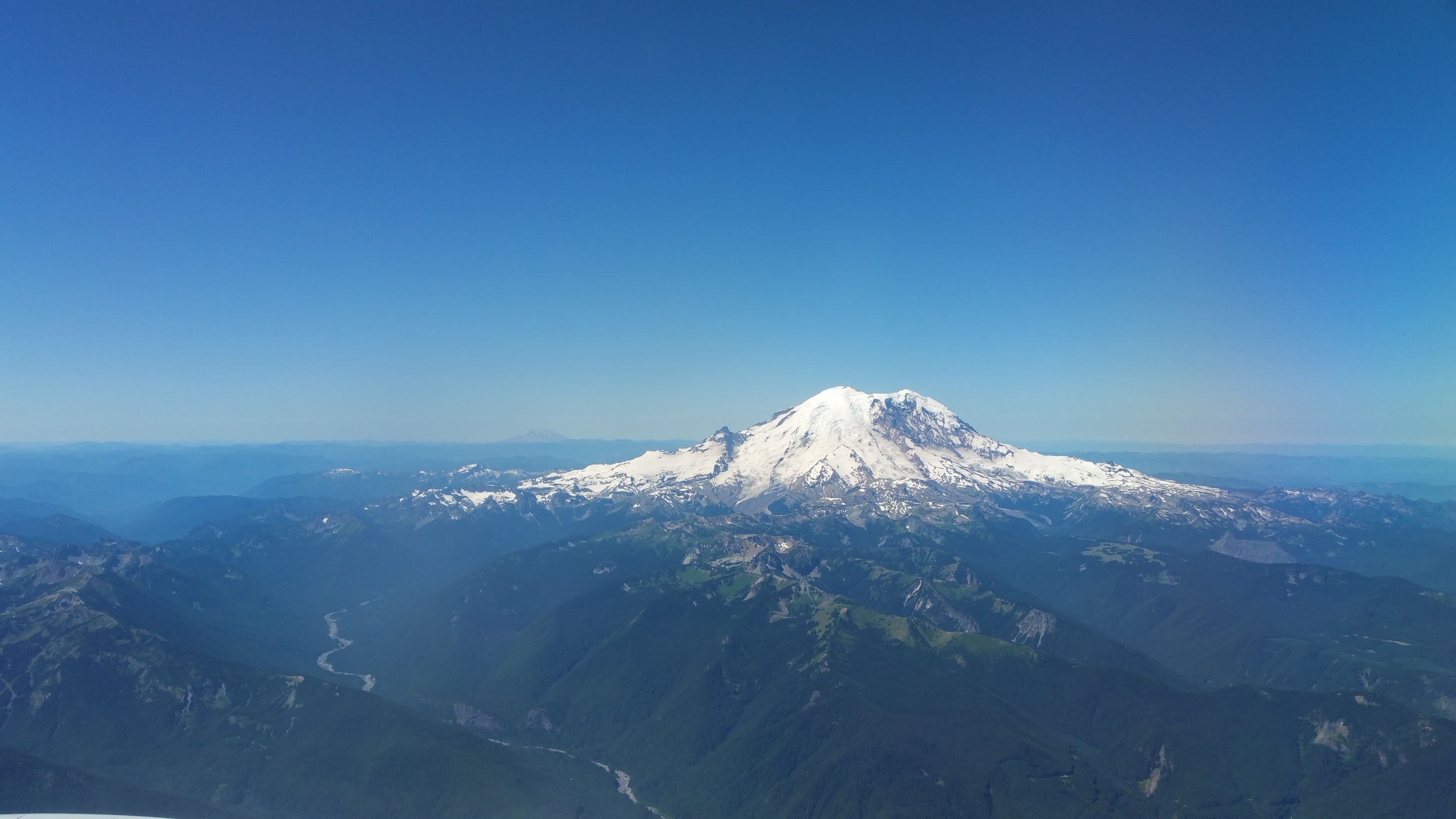 Mt. Rainier approaching Seattle-Tacoma International Airport.