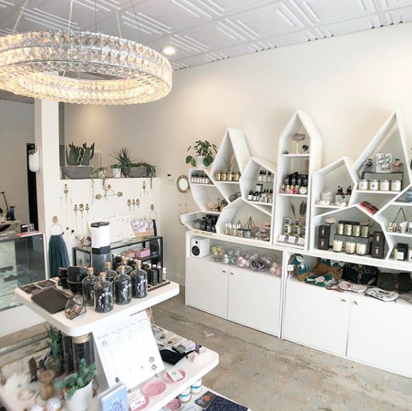 Shot of Stacey's gorgeous studio and shop. Via  @mineralandmatter