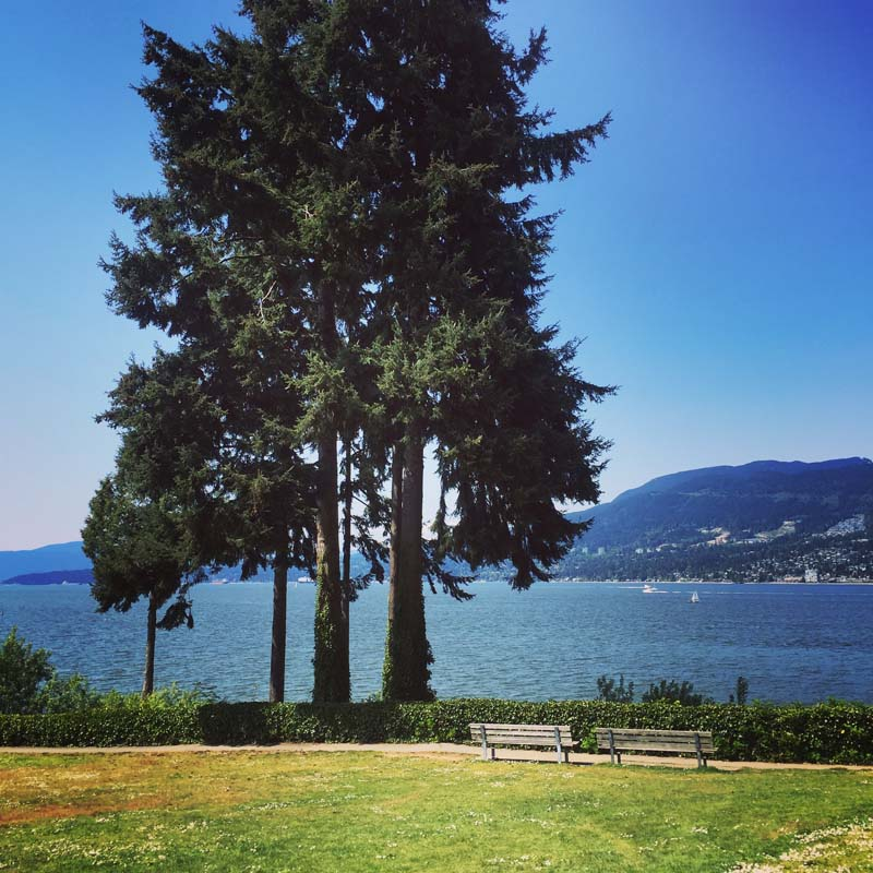View from Stanley Park in Vancouver, B.C.