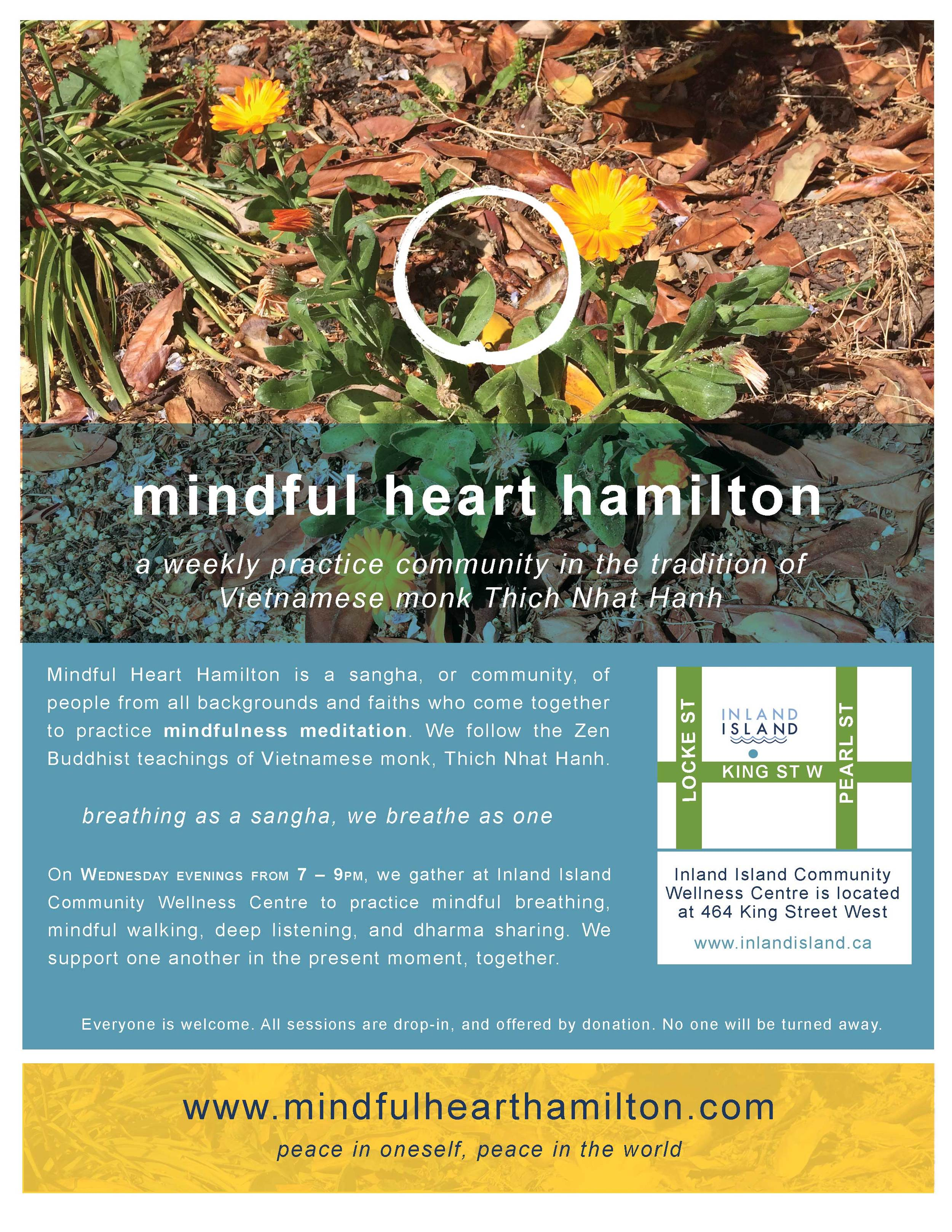 A new sangha at Inland Island,  Mindful Heart Hamilton .