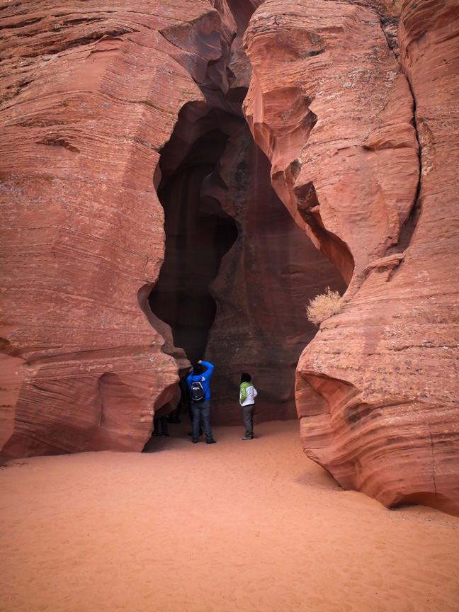 The entrance to Upper Antelope Canyon.