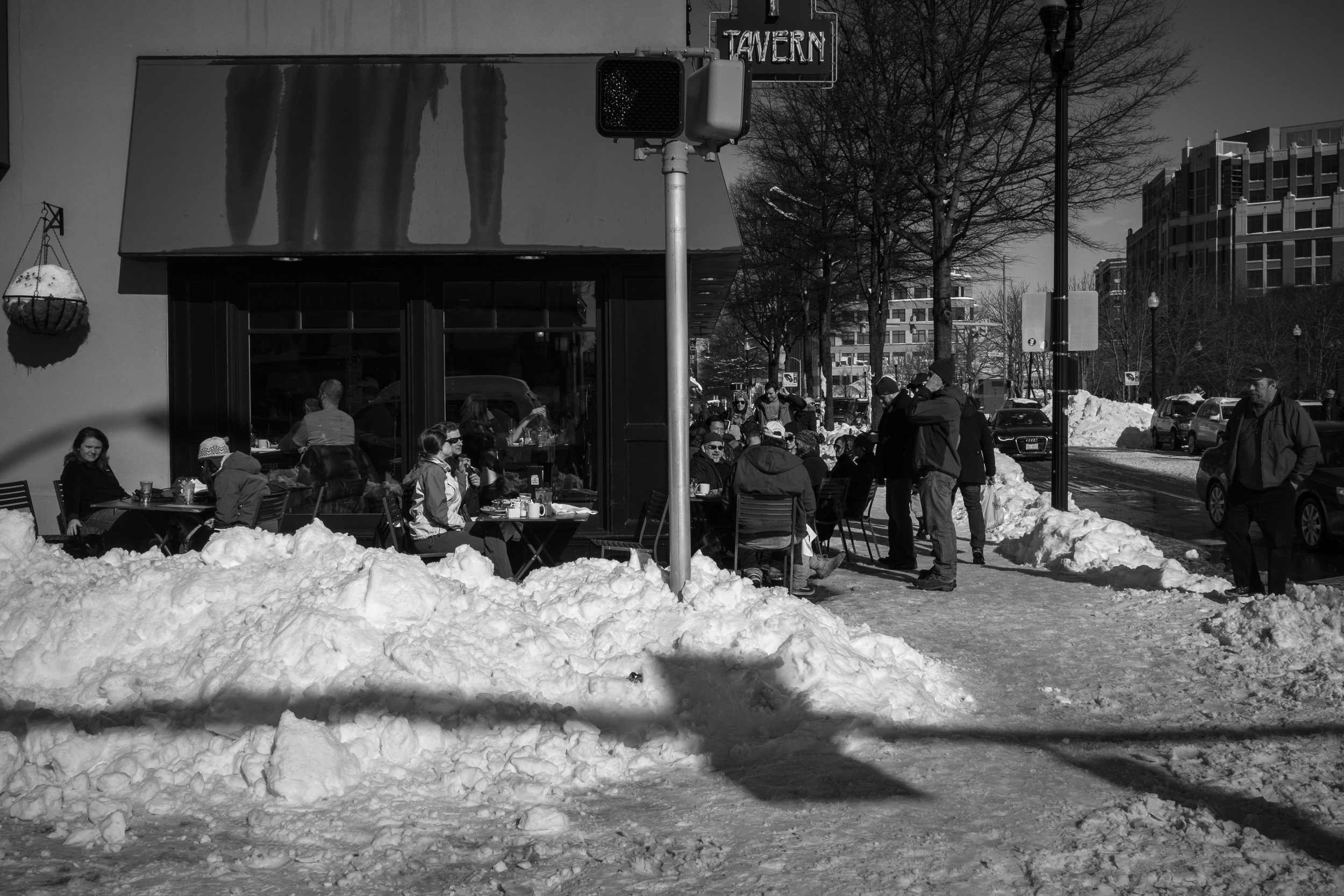 I probably could have spent much more time with this scene, but the juxtaposition of dining al fresco just 13 hours after the blizzard ended tells a story about the Clarendon neighborhood in Arlington.