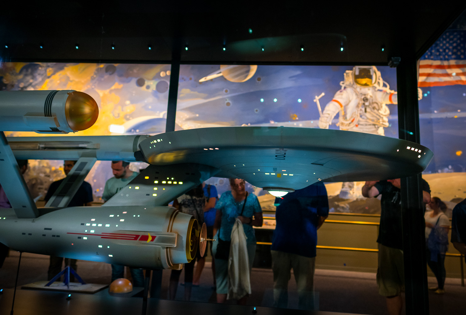 Restored USS Enterprise model on display at the Smithsonian Sea Air and Space Museum in Washington, D.C. Fujifilm X-Pro2, 16mm 1.4. 1/60 @ f2.0, ISO 1000.