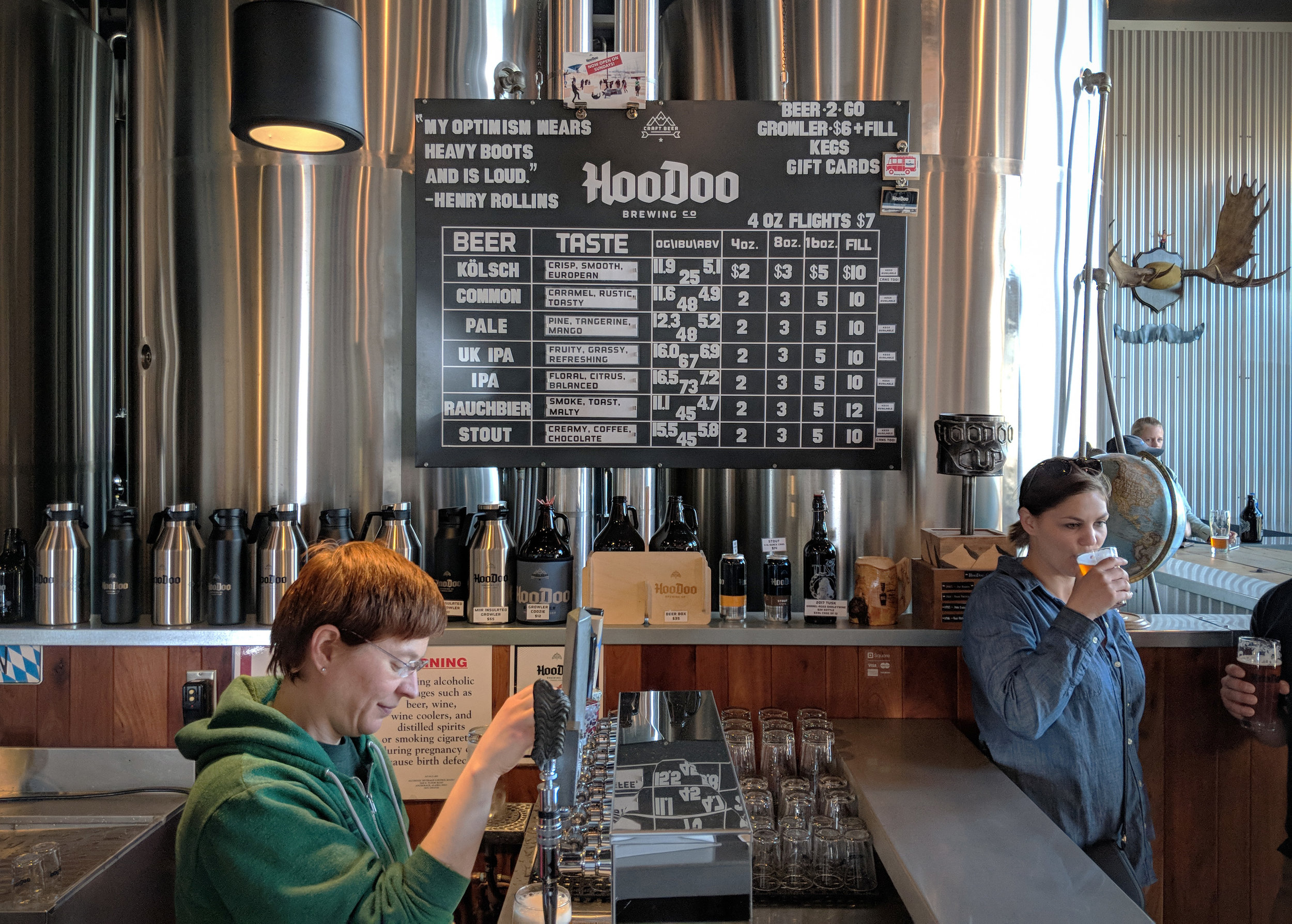 The only positive thing about not being able to return to Denali over the weekend was that it gave me more time to visit some of the outstanding breweries in Fairbanks, like HooDoo.