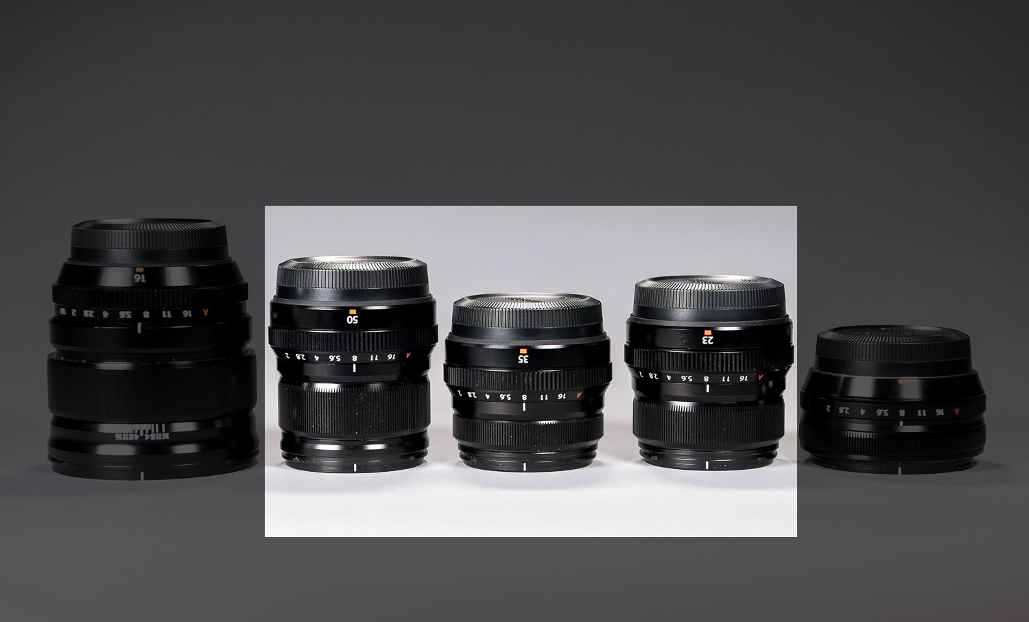 The Fujifilm 50mm, 35mm and 23mm lenses are all f2.0 and are sometimes referred to as Fujicrons, a nod to Leica's Summicron lenses which also have an f2.0 aperture. I've also referred these three lenses as the trifecta.