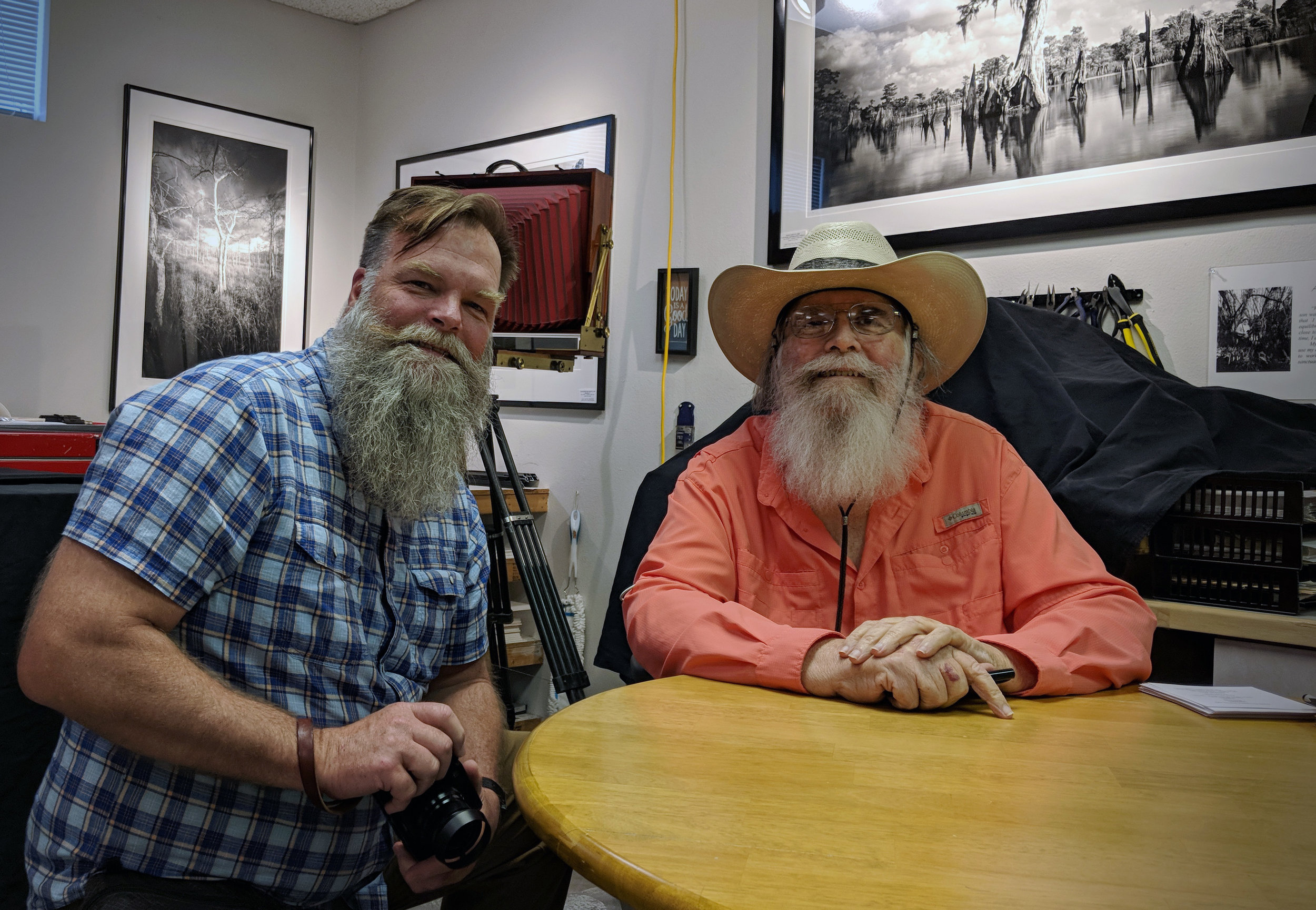 Clyde Butcher and me at his Venice, Fla., gallery, studio and darkroom.