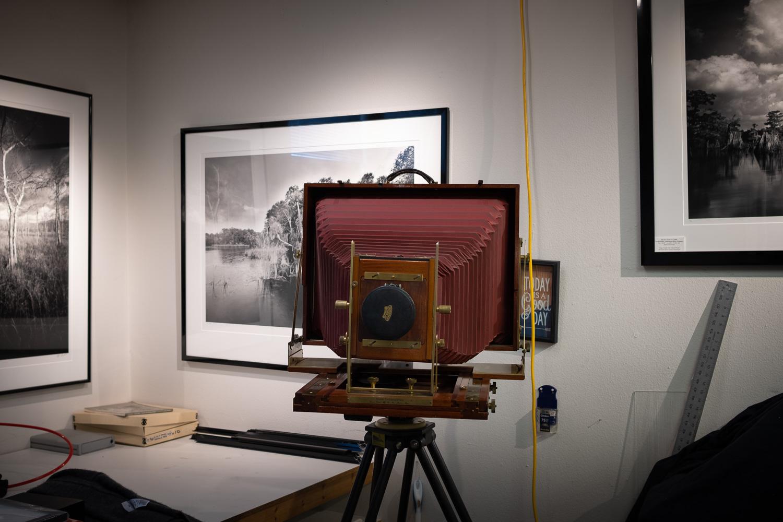 A 12x20 Ron Wisner Field Camera in Clyde's studio.