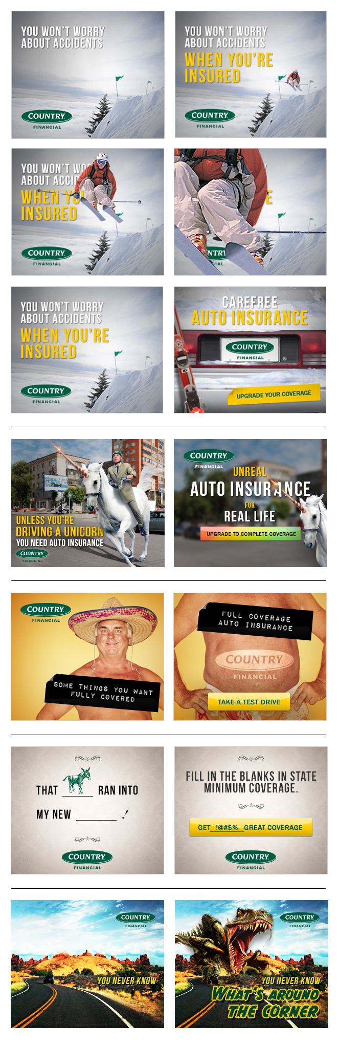 Country Financial Car Insurance >> Country Financial Auto Insurance Banner Copywriting