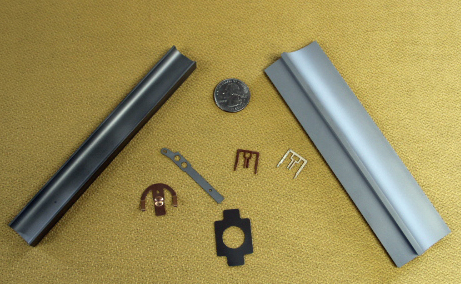 Wire EDM Parts of different sizes