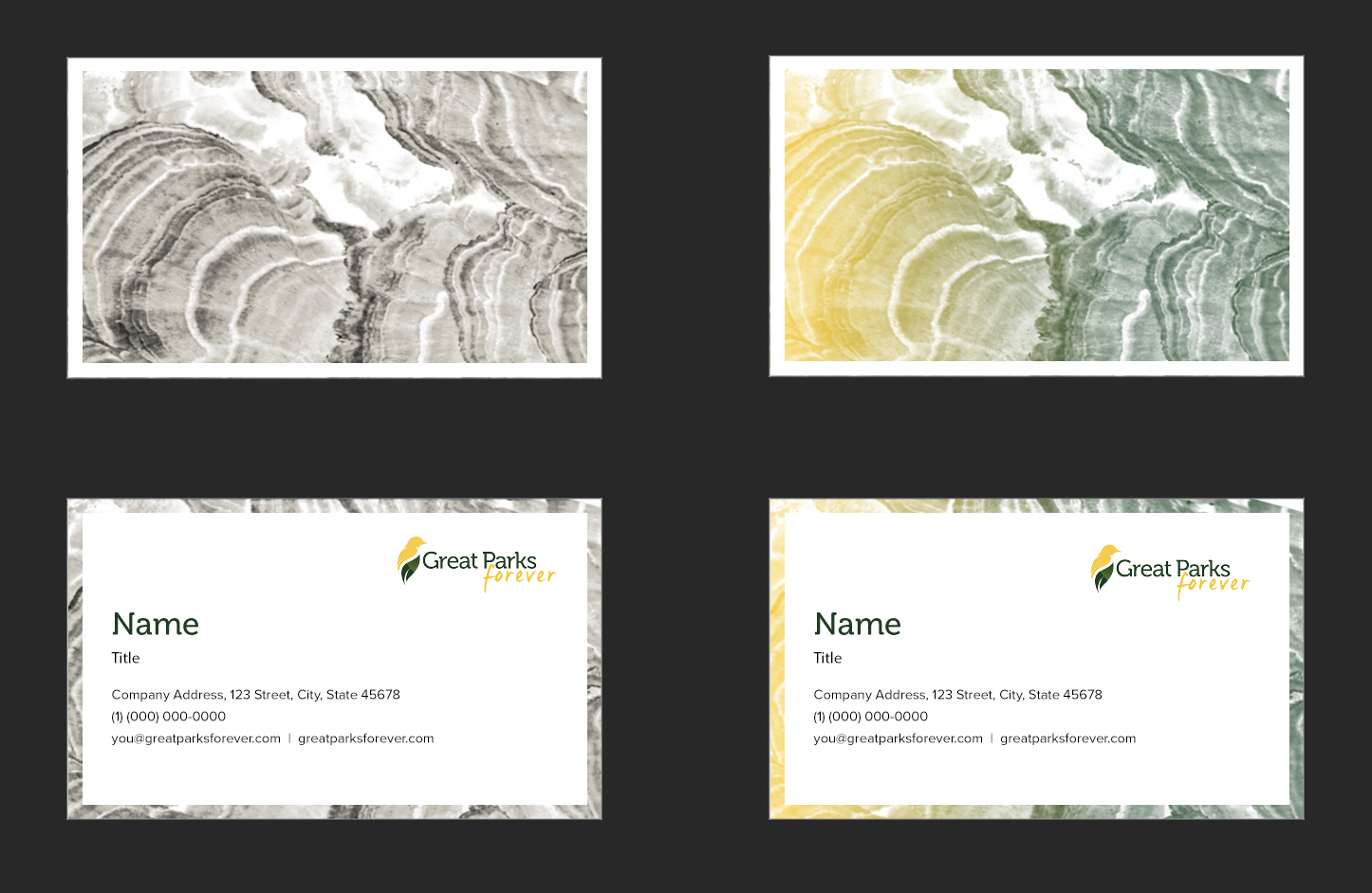 Horizontal Business cards