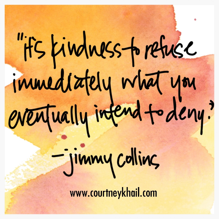 it's kindness to refuse immediately what you eventually intend to deny_jimmy collins_ courtney khail watercolor   custom watercolor   Fine artist   Atlanta, Georgia
