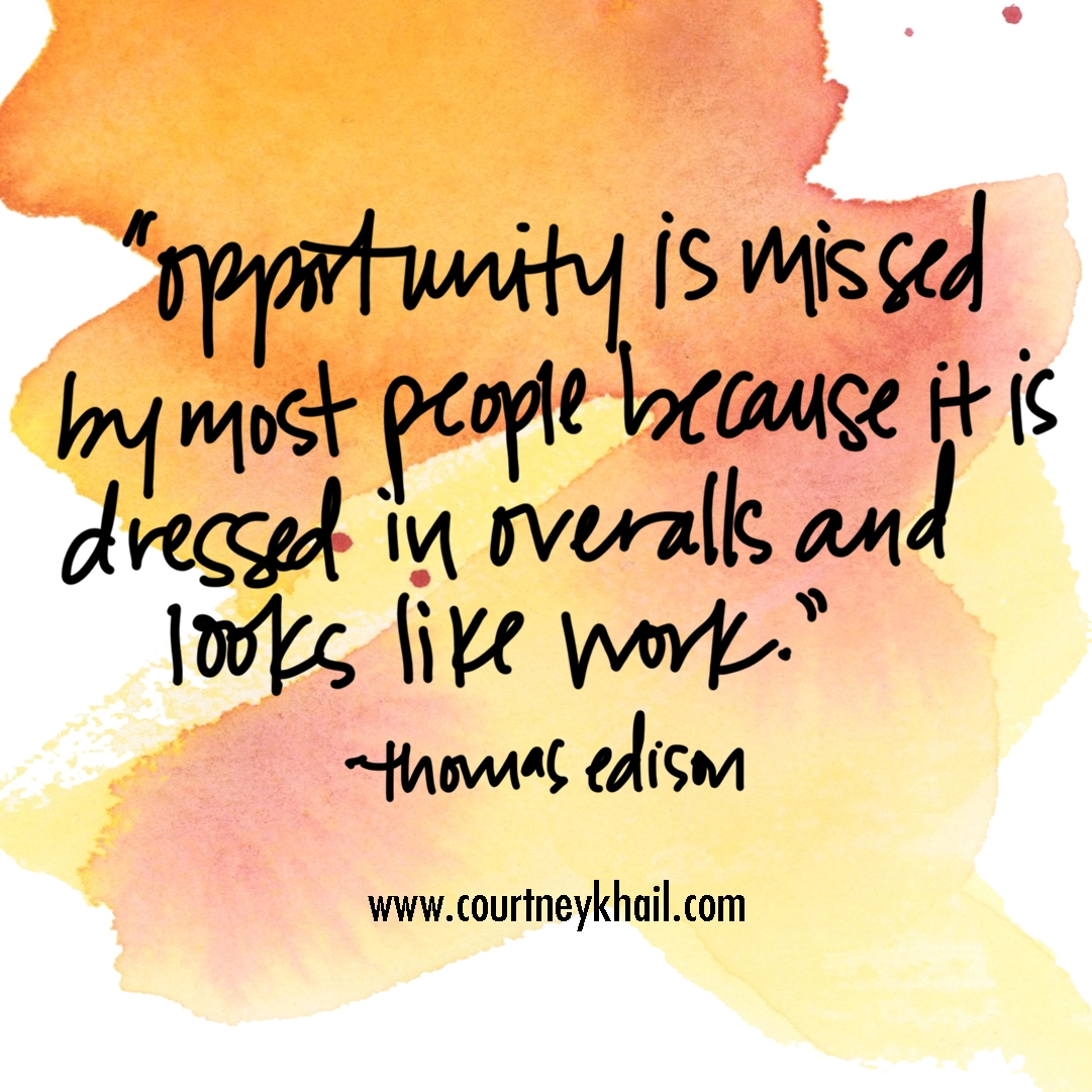 opportunity | watercolor quote | courtney khail watercolors | Southern fine artist | Atlanta, Georgia