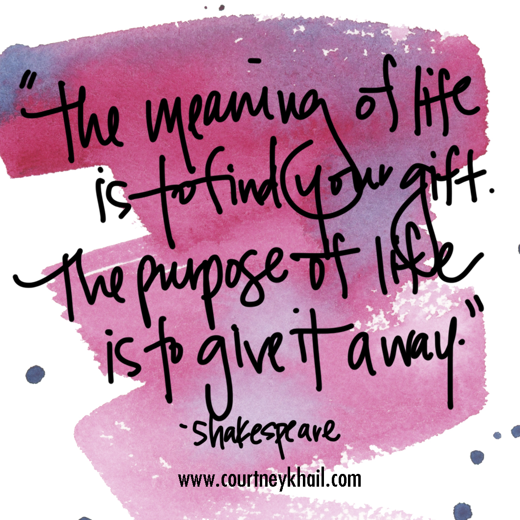 the meaning of life | shakespeare | courtney khail | Atlanta watercolor artist