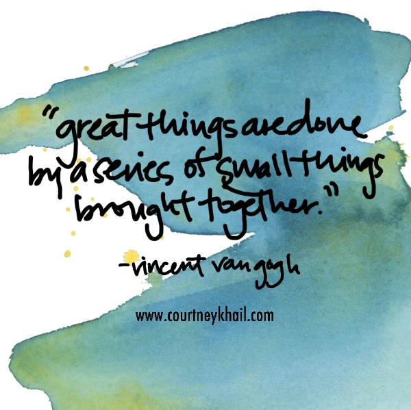 Great Things | VIncent Van Gogh | watercolor by Courtney Khail