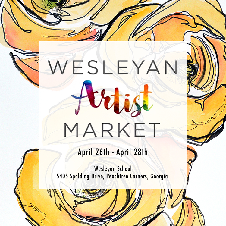 Wesleyan Featured Artist - April 26-28, 2018Wesleyan School Artist MarketCourtney Khail is honored to be a featured artist at the 20th annual Wesleyan Artist Market. Come view the featured artist gallery, where Courtney's contemporary watercolors will be on display and for sale, as well as peruse the beautiful pieces at the art market itself.For more information, please click here to visit the Wesleyan Artist Market website.