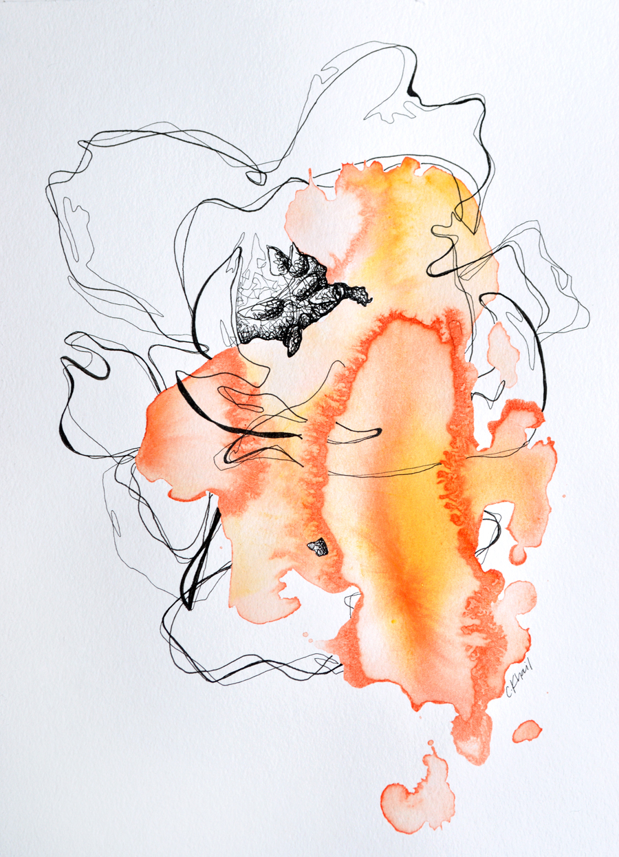 Dreams In Color: Orange by Courtney Khail