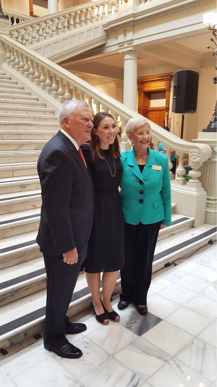Courtney Khail with Governor and First Lady Deal.JPG