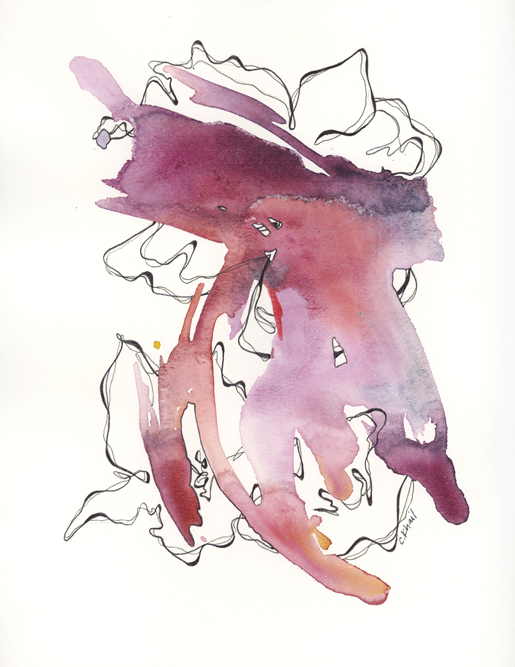 "Courtney Khail - ""Jorja"" - original watercolor and ink painting - Atlanta Southern Artist"